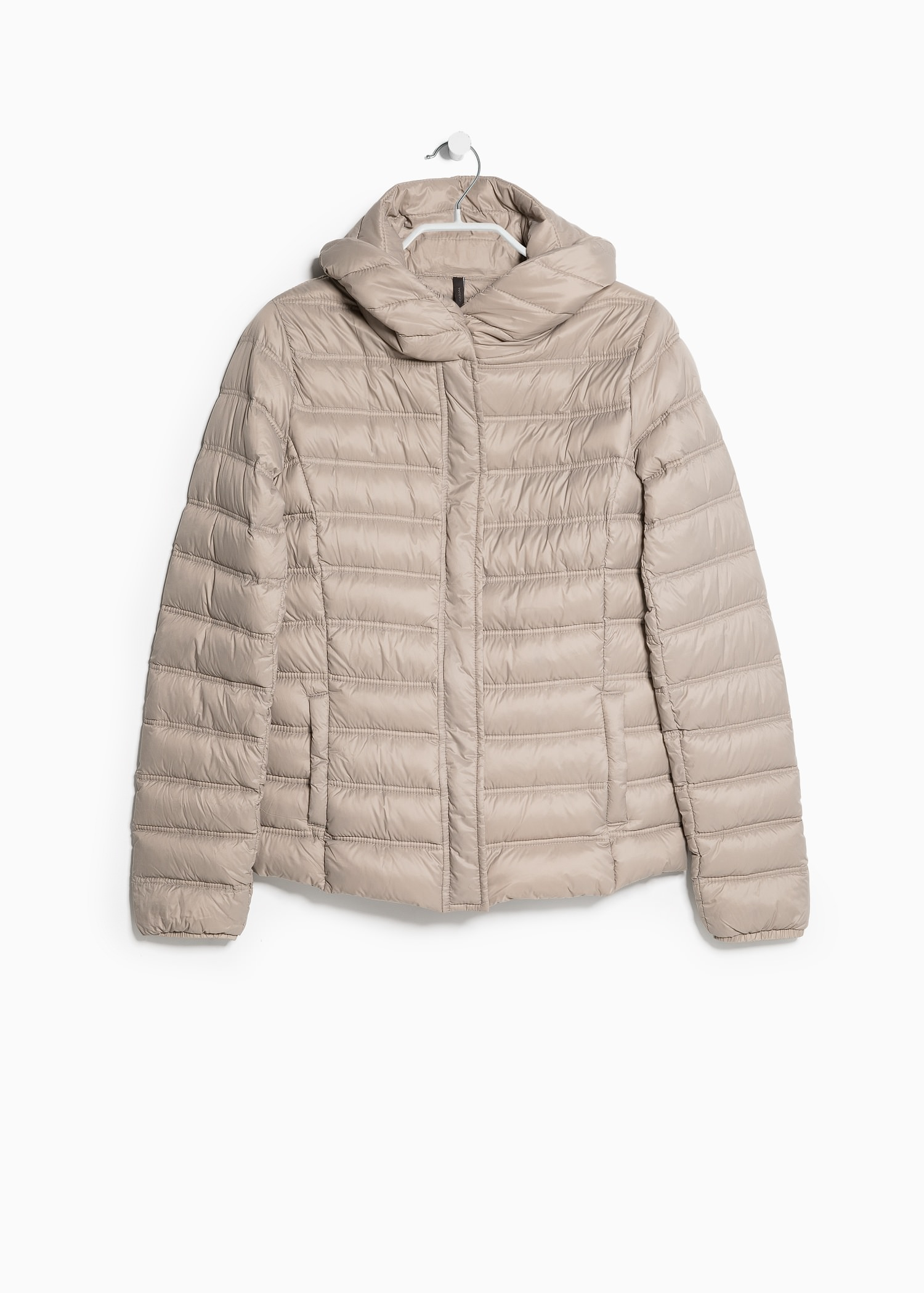 Mango Foldable Feather Down Jacket in Natural | Lyst