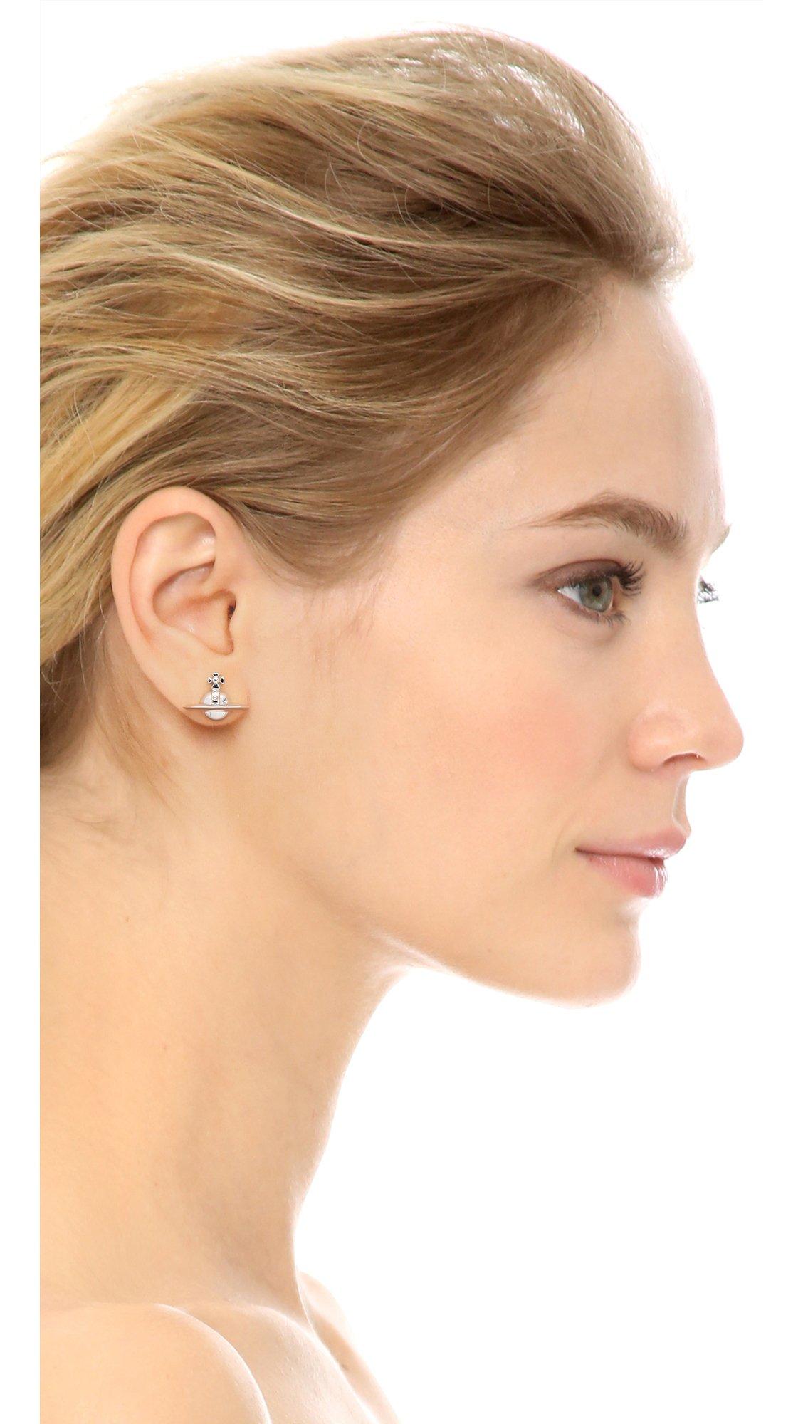 Solid Orb Earrings Silver