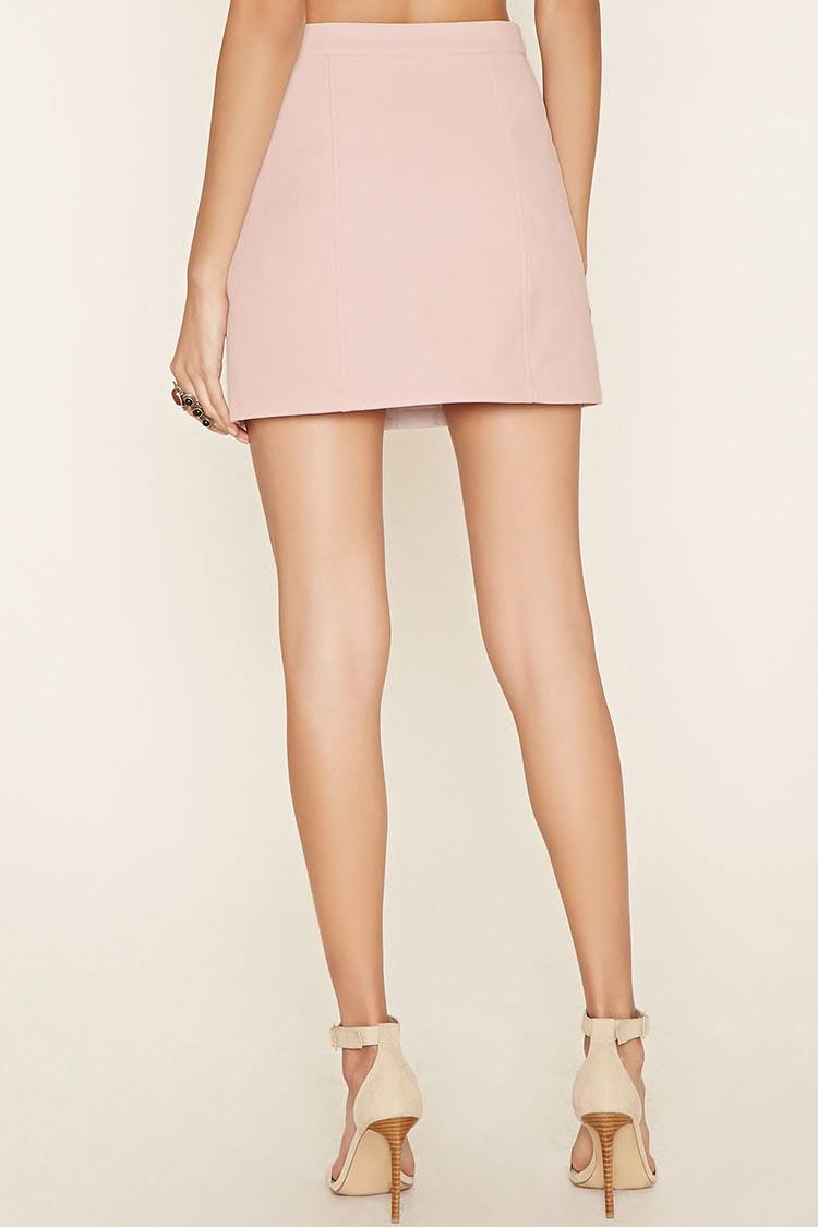 forever 21 faux leather mini skirt in lyst