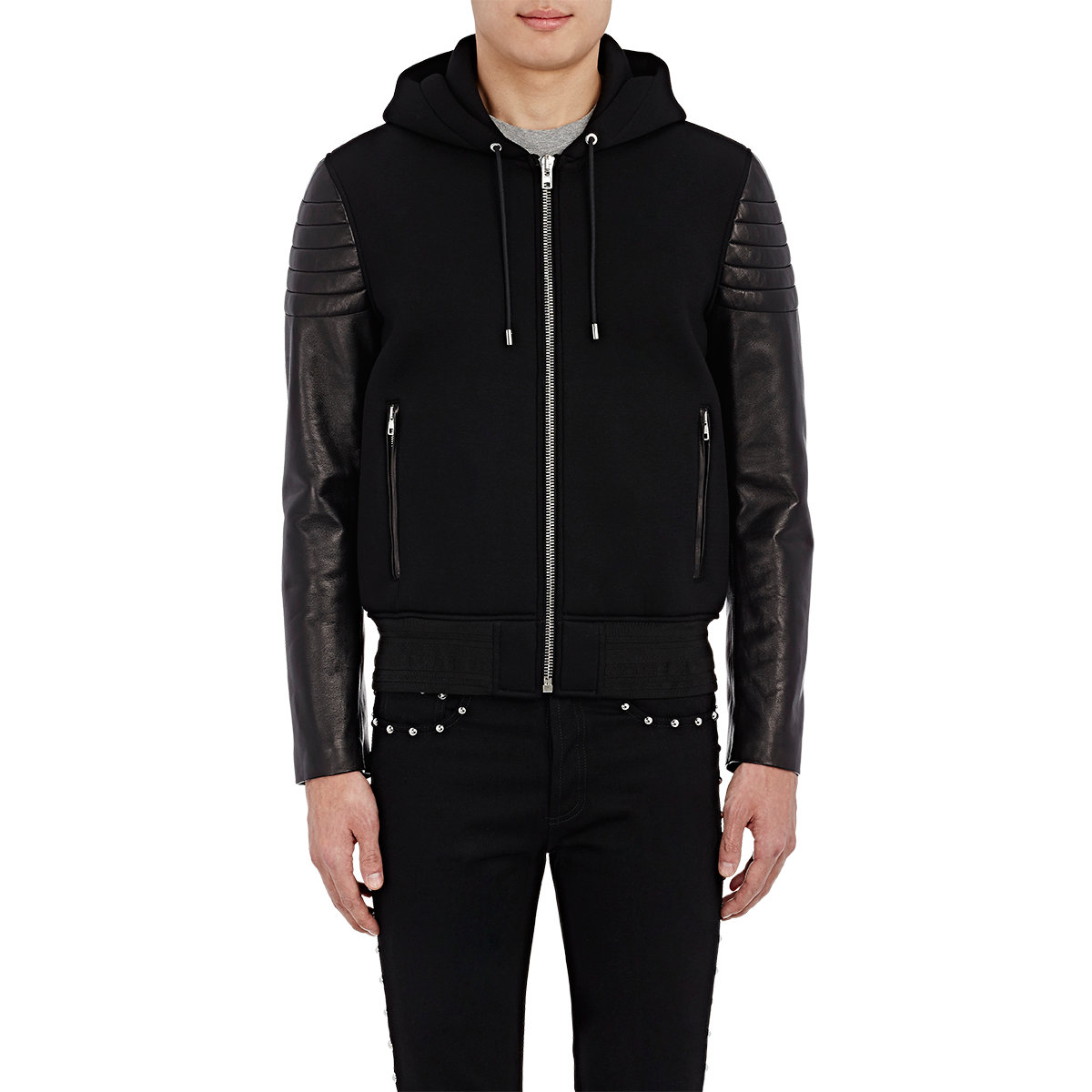 Givenchy Combo Hooded Jacket in Black for Men