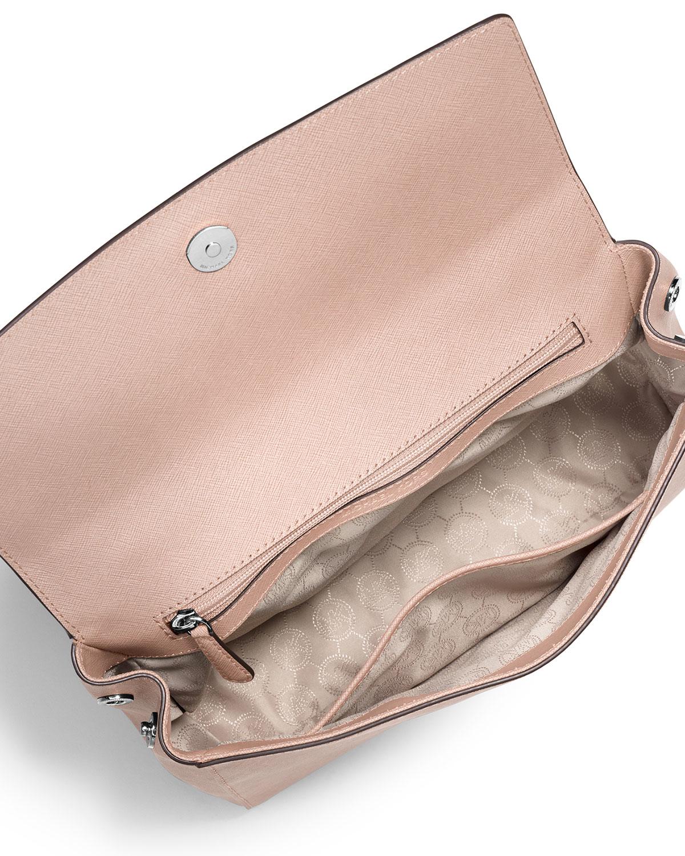 3ef78ee3000f MICHAEL Michael Kors Ava Medium Saffiano Leather Satchel Bag in Pink ...