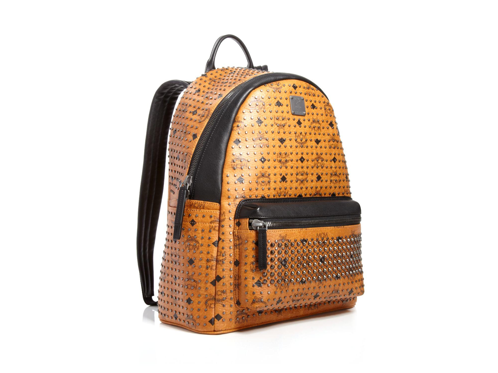 mcm stark special backpack in brown for men lyst. Black Bedroom Furniture Sets. Home Design Ideas