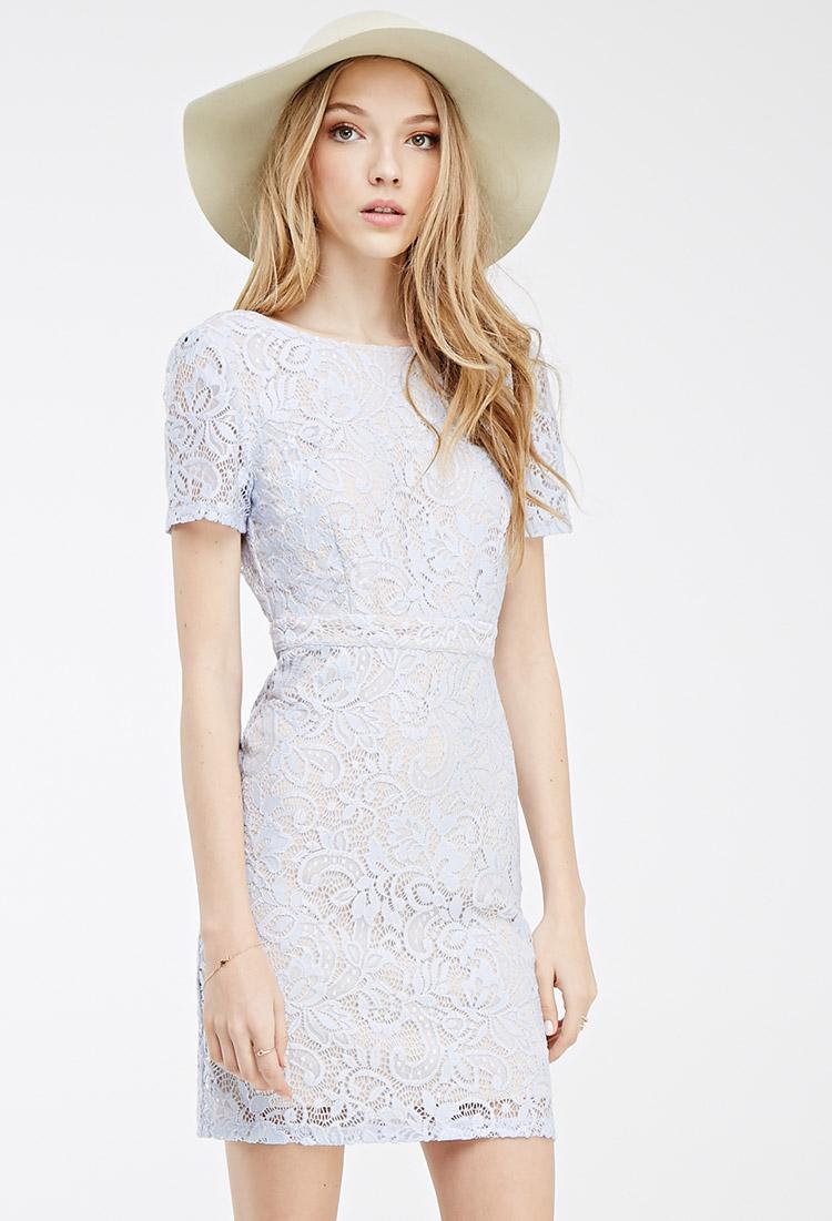 Floral lace back dress