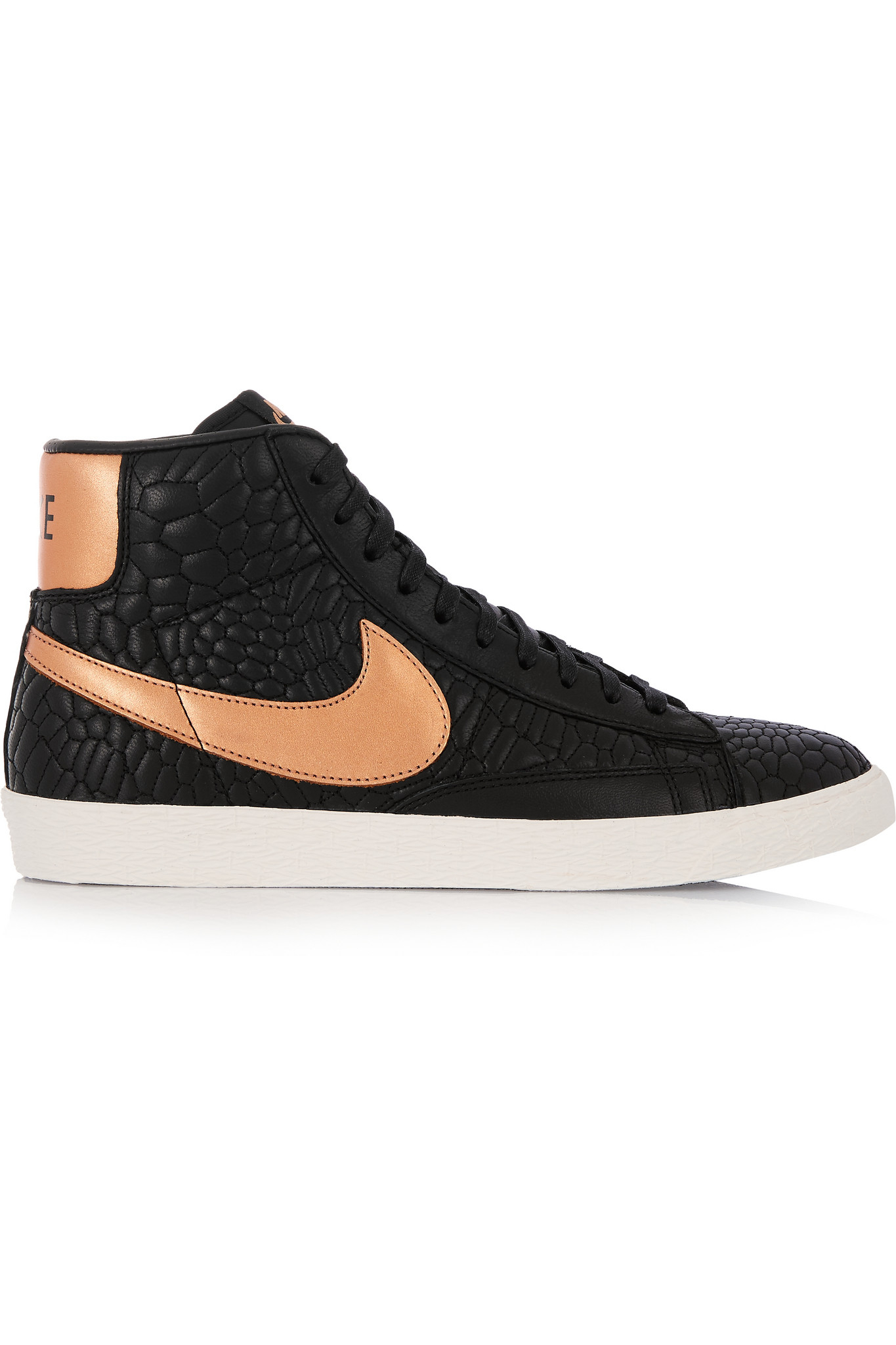 Nike - Blazer Croc-Effect Leather High-Top Sneakers -7541