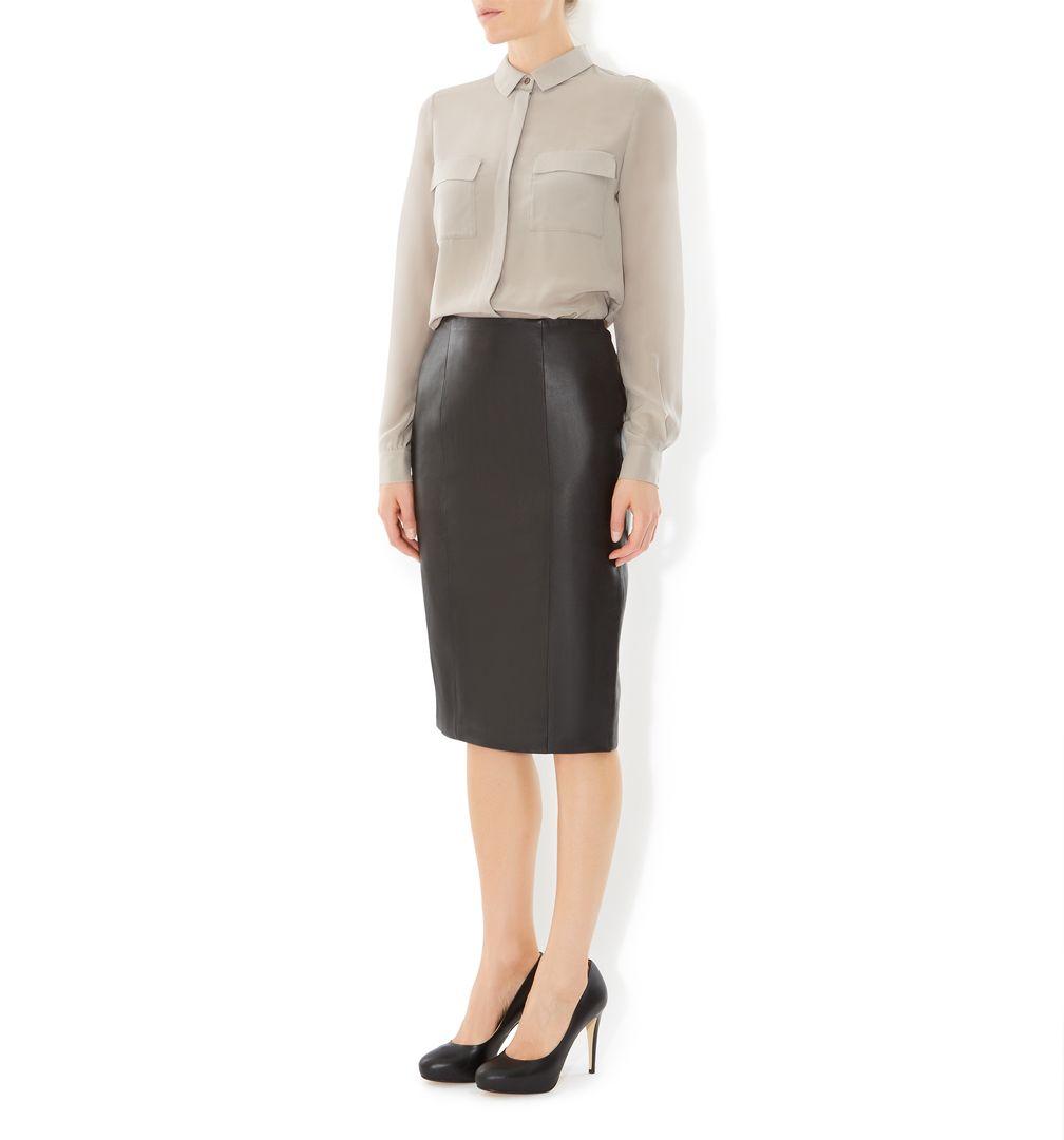 hobbs thea skirt in black lyst