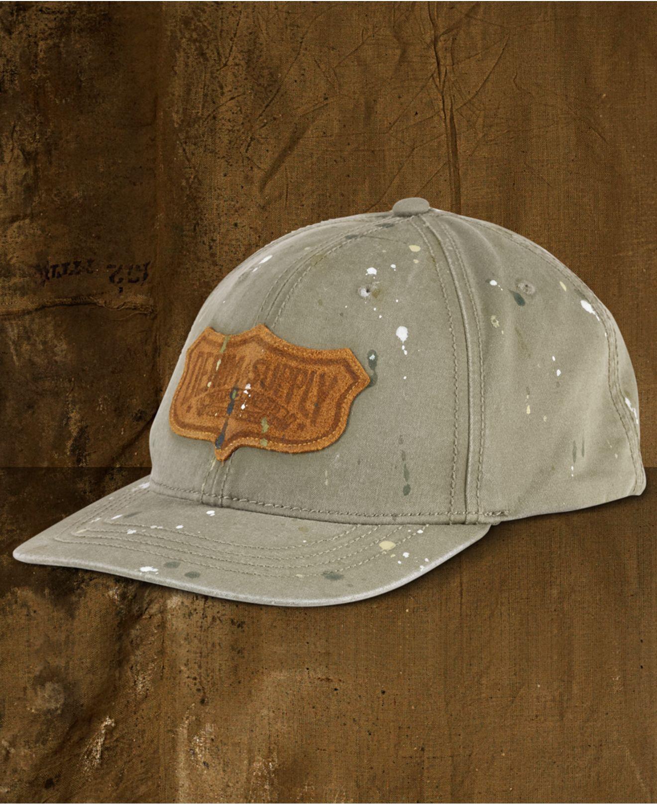 2524b40a2a3 Lyst - Denim   Supply Ralph Lauren Paint-splattered Baseball Hat in ...