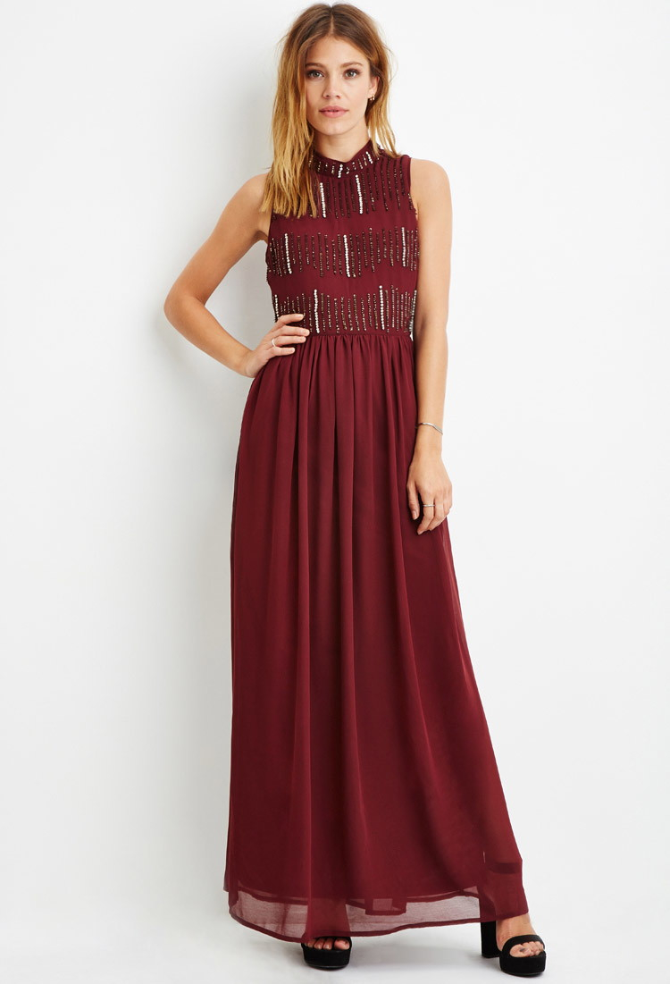 Red long dress forever 21 free