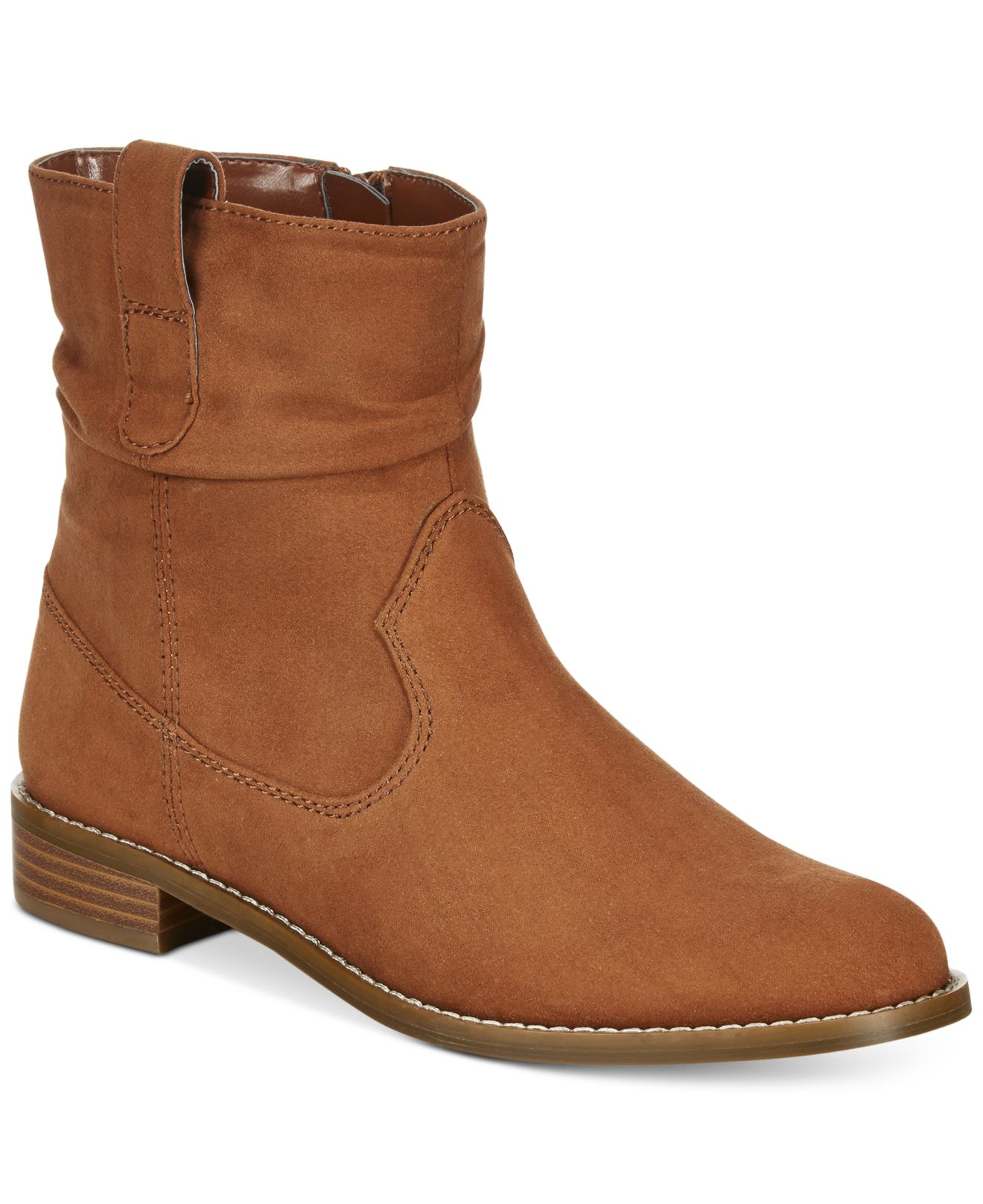 style co pagee slouchy booties only at macy s in brown