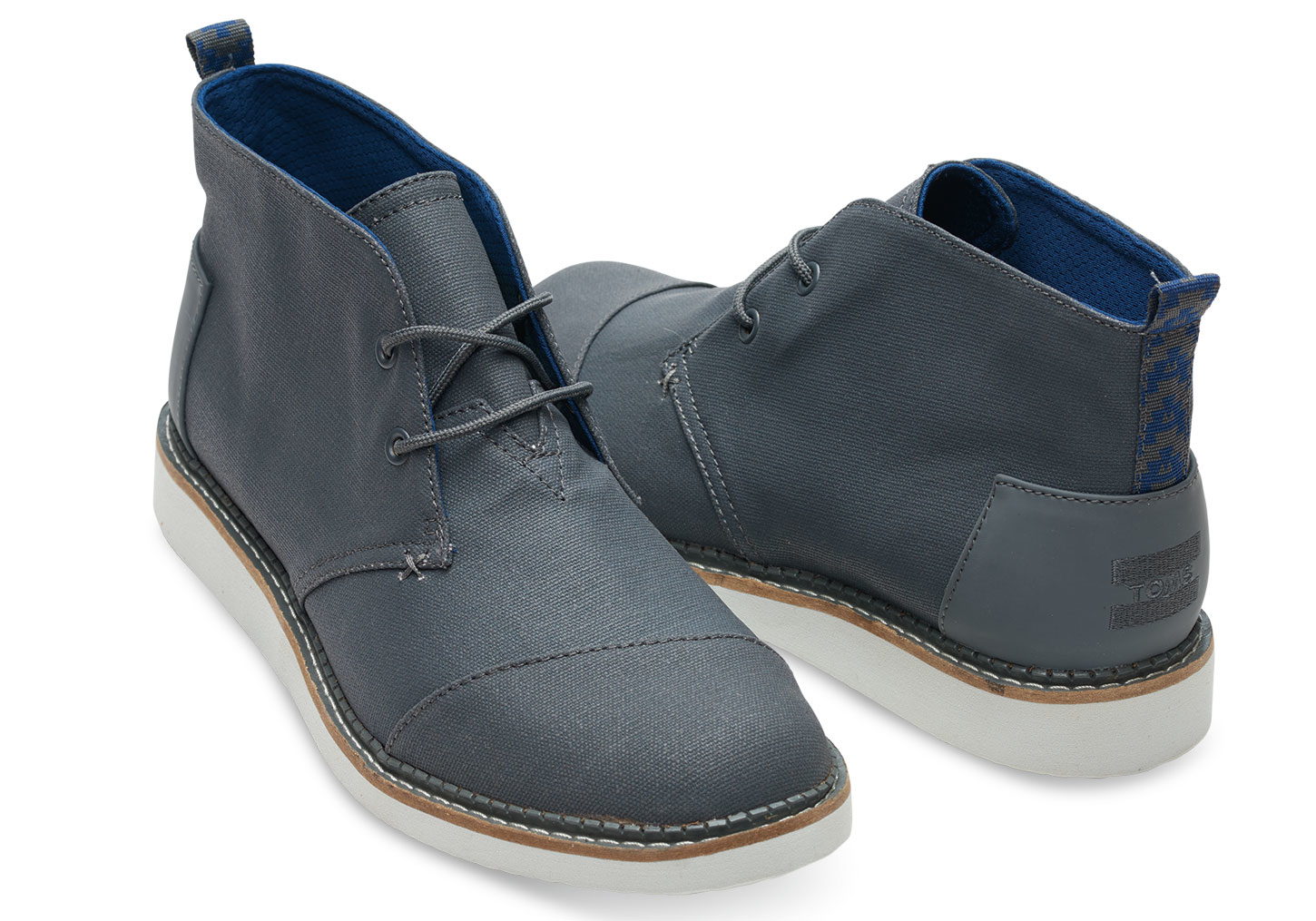61d46017867 Toms Castlerock Grey Coated Canvas Men s Mateo Chukka Boots in .