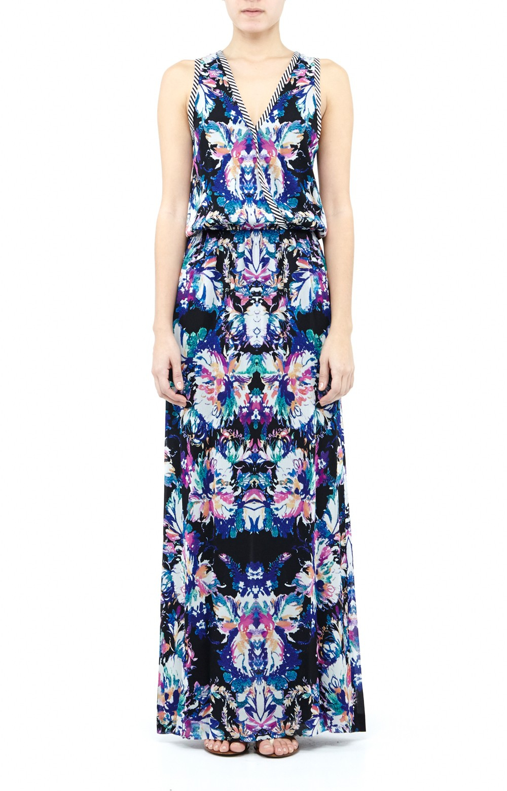 Nicole Miller Carson Paisley Fit And Flare Dress Lyst