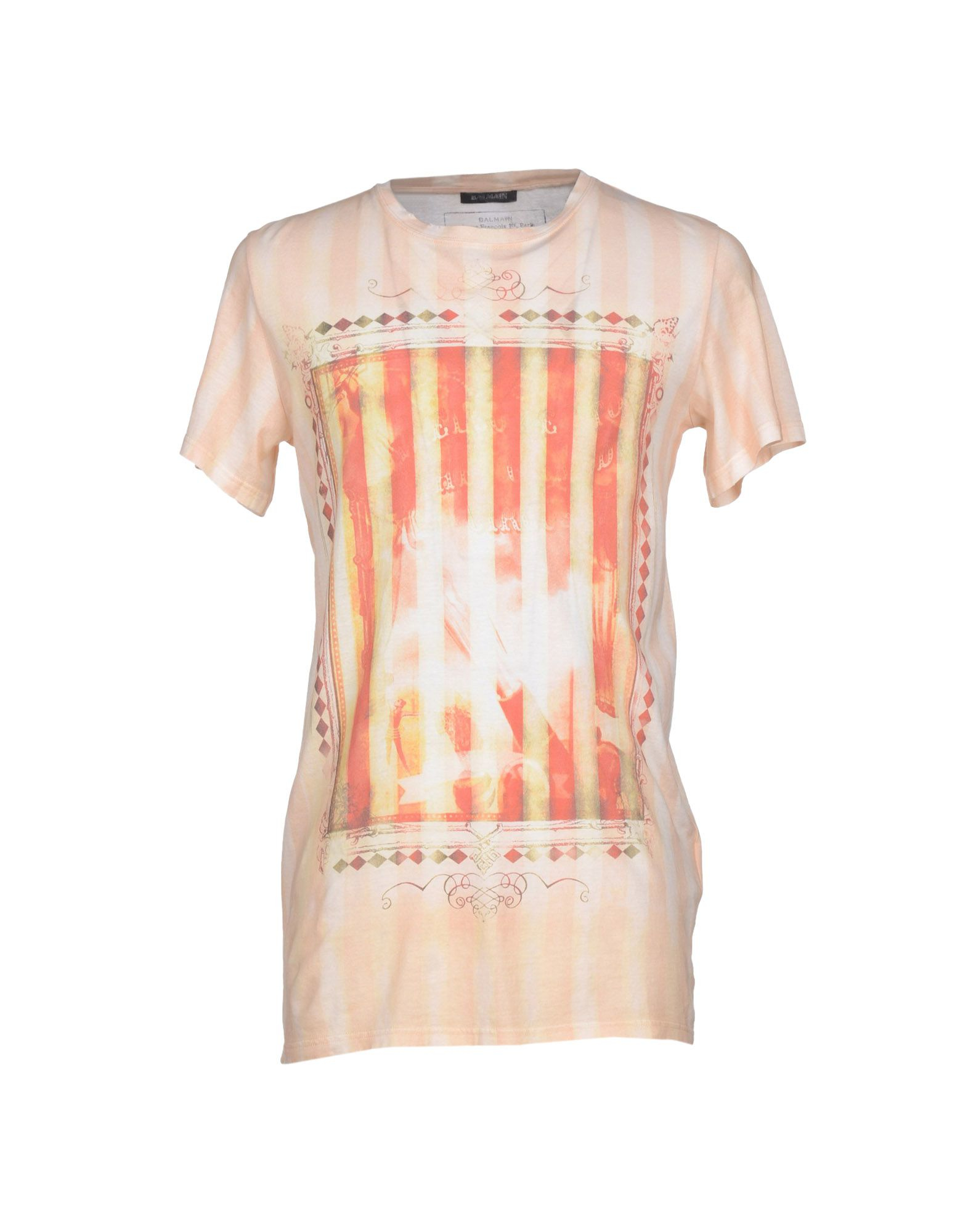 balmain t shirt in orange for men lyst. Black Bedroom Furniture Sets. Home Design Ideas