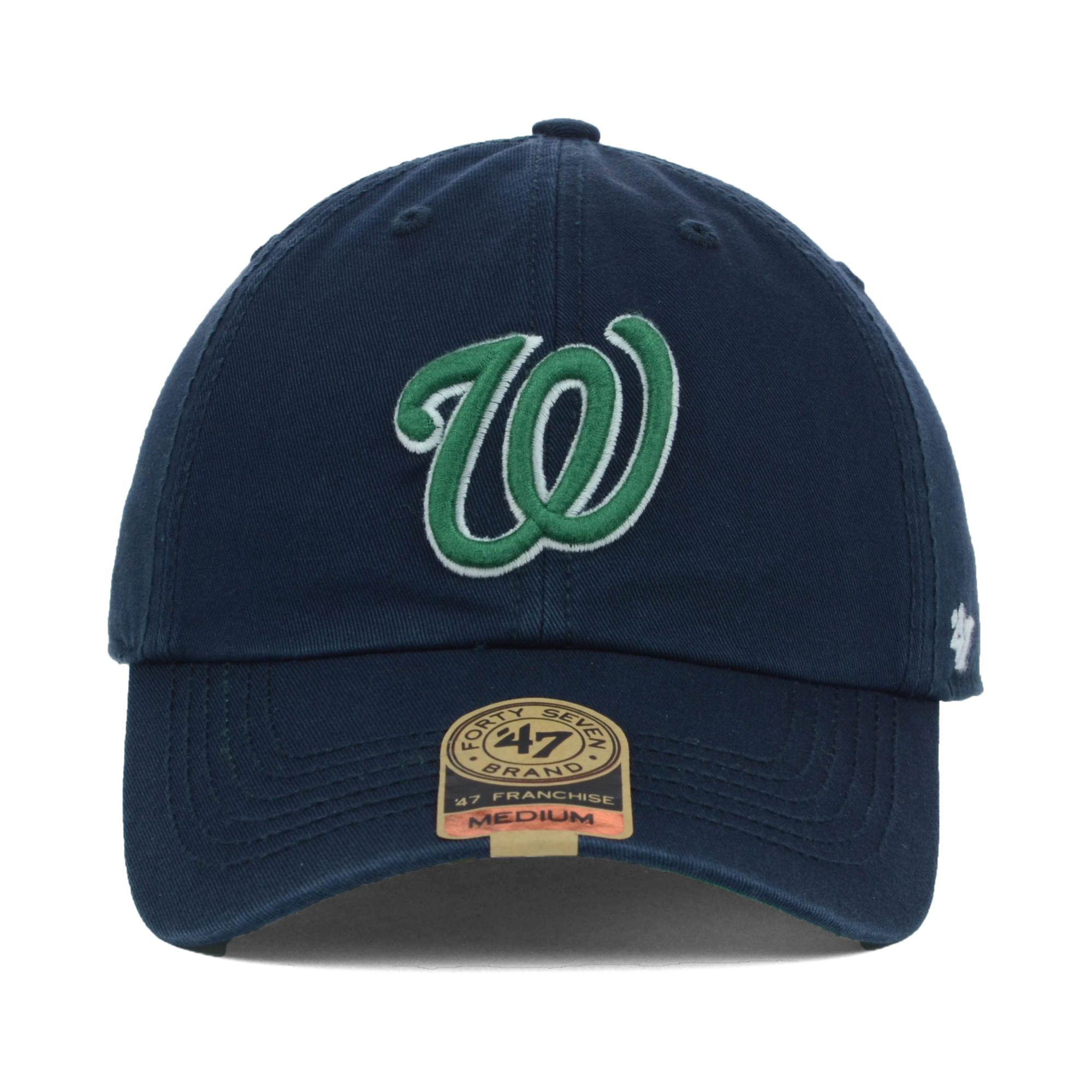 cffa2659a6650 ... authentic lyst 47 brand washington nationals mlb dublin cap in blue for  men cb982 4f00a