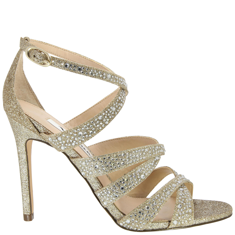 Nina Chantez Sandals in Beige Beige Glitter