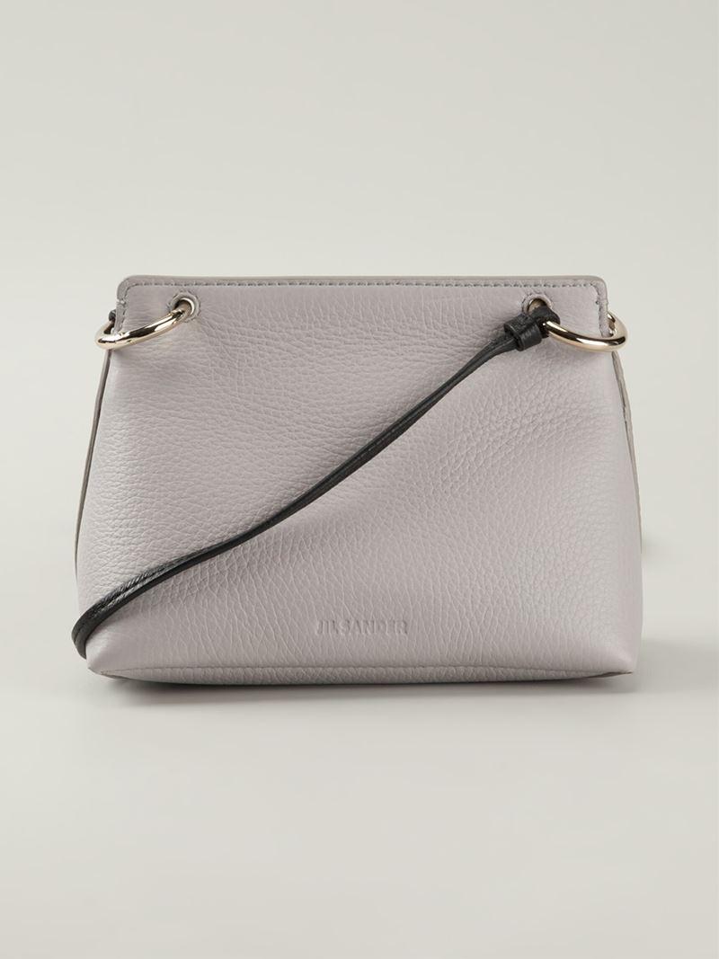 Jil Sander Lady Deerskin Cross-body Bag in Grey (Grey)