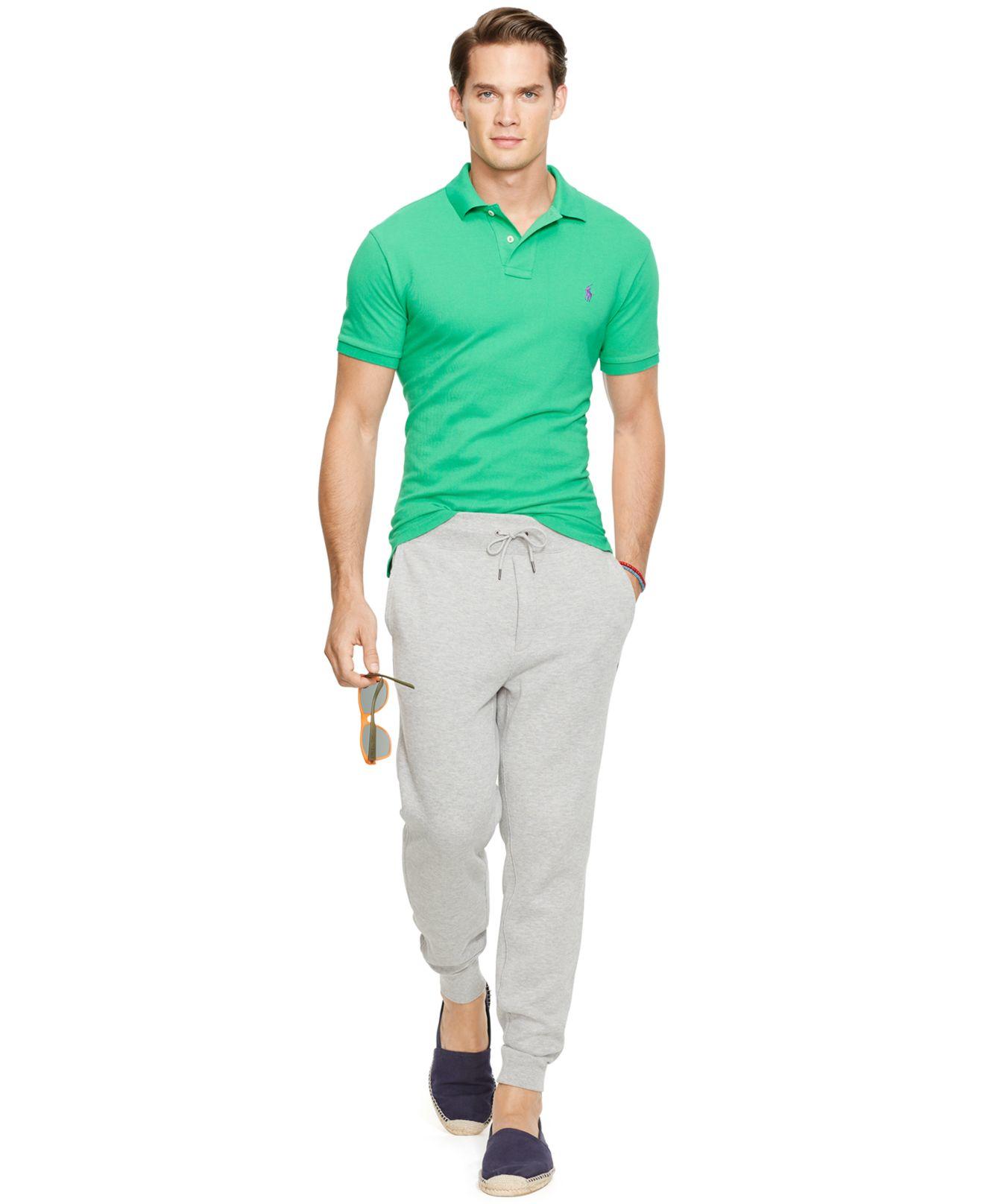 polo ralph lauren men 39 s custom fit mesh polo shirt in. Black Bedroom Furniture Sets. Home Design Ideas