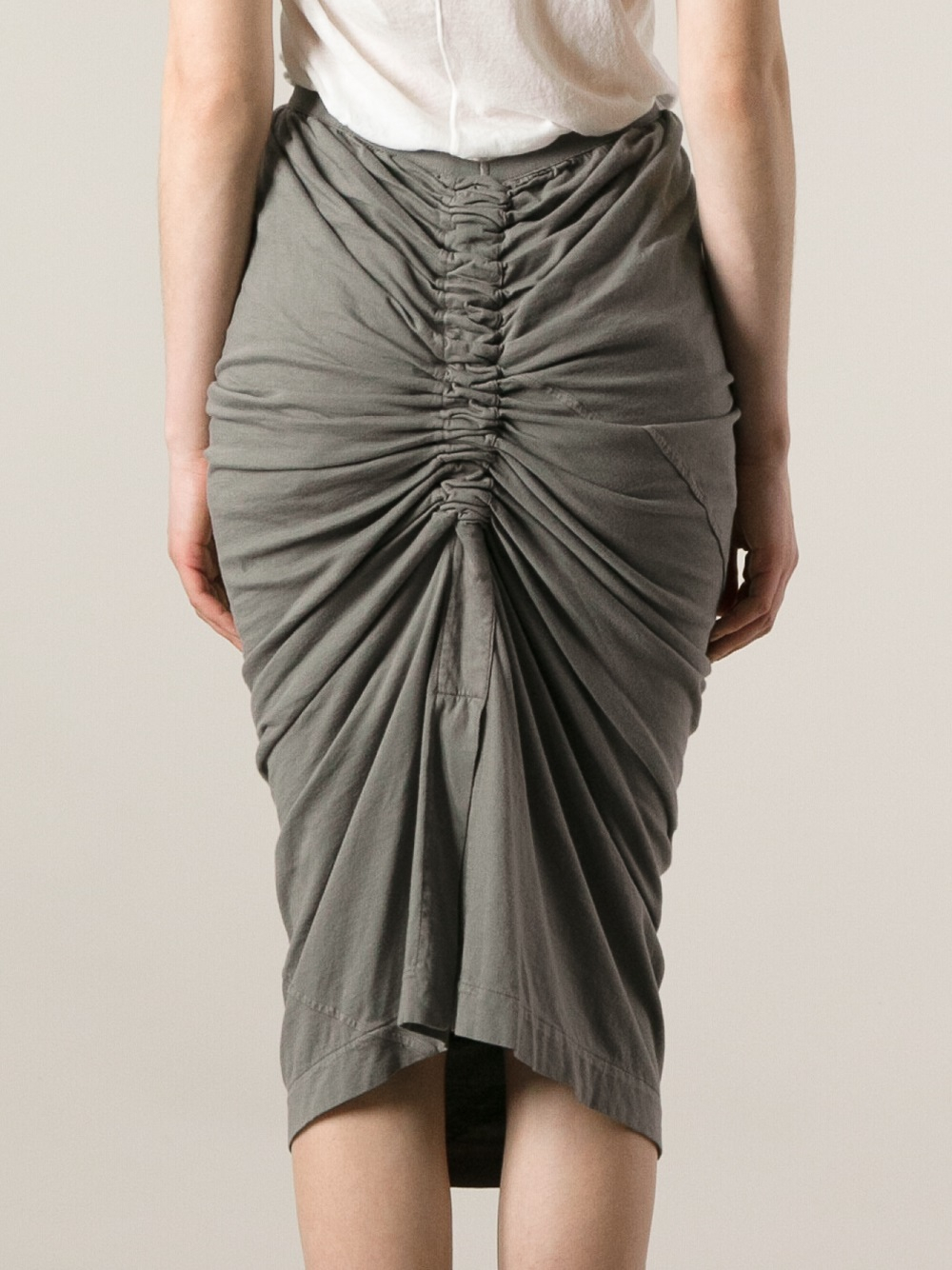 Rick Owens draped pencil dress Lowest Price For Sale qw4bN