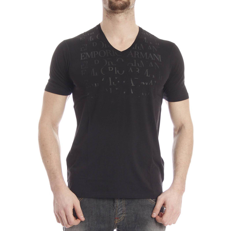 emporio armani t shirt in black for men lyst. Black Bedroom Furniture Sets. Home Design Ideas