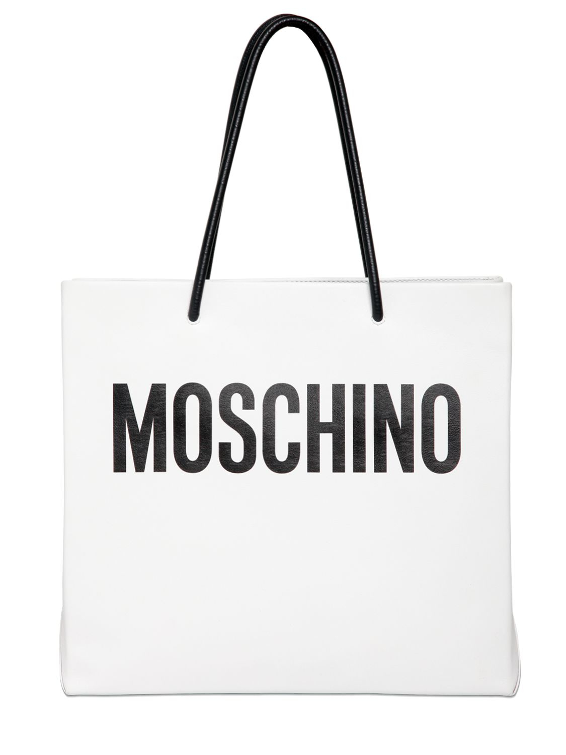 Moschino Moshino Shopping Leather Tote Bag In White Lyst