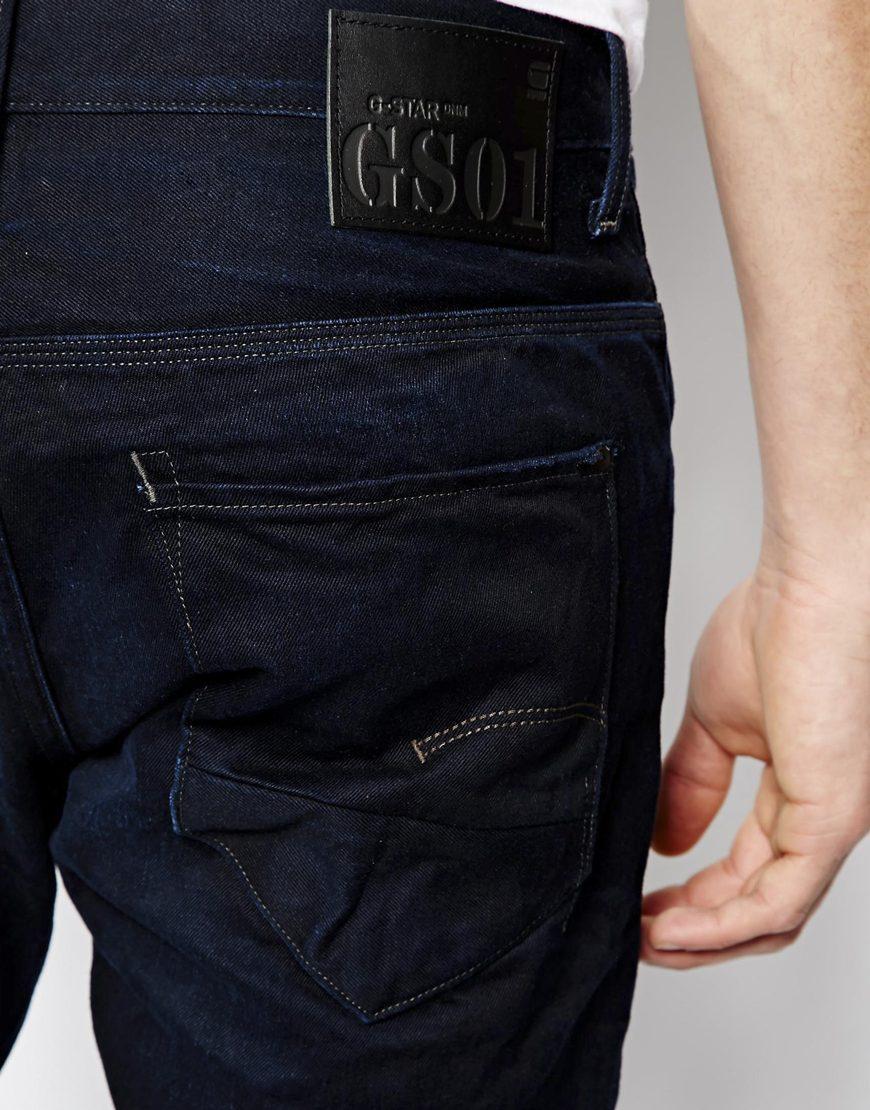 g star raw g star jeans new radar slim fit mazarine 3d aged in blue for men lyst. Black Bedroom Furniture Sets. Home Design Ideas