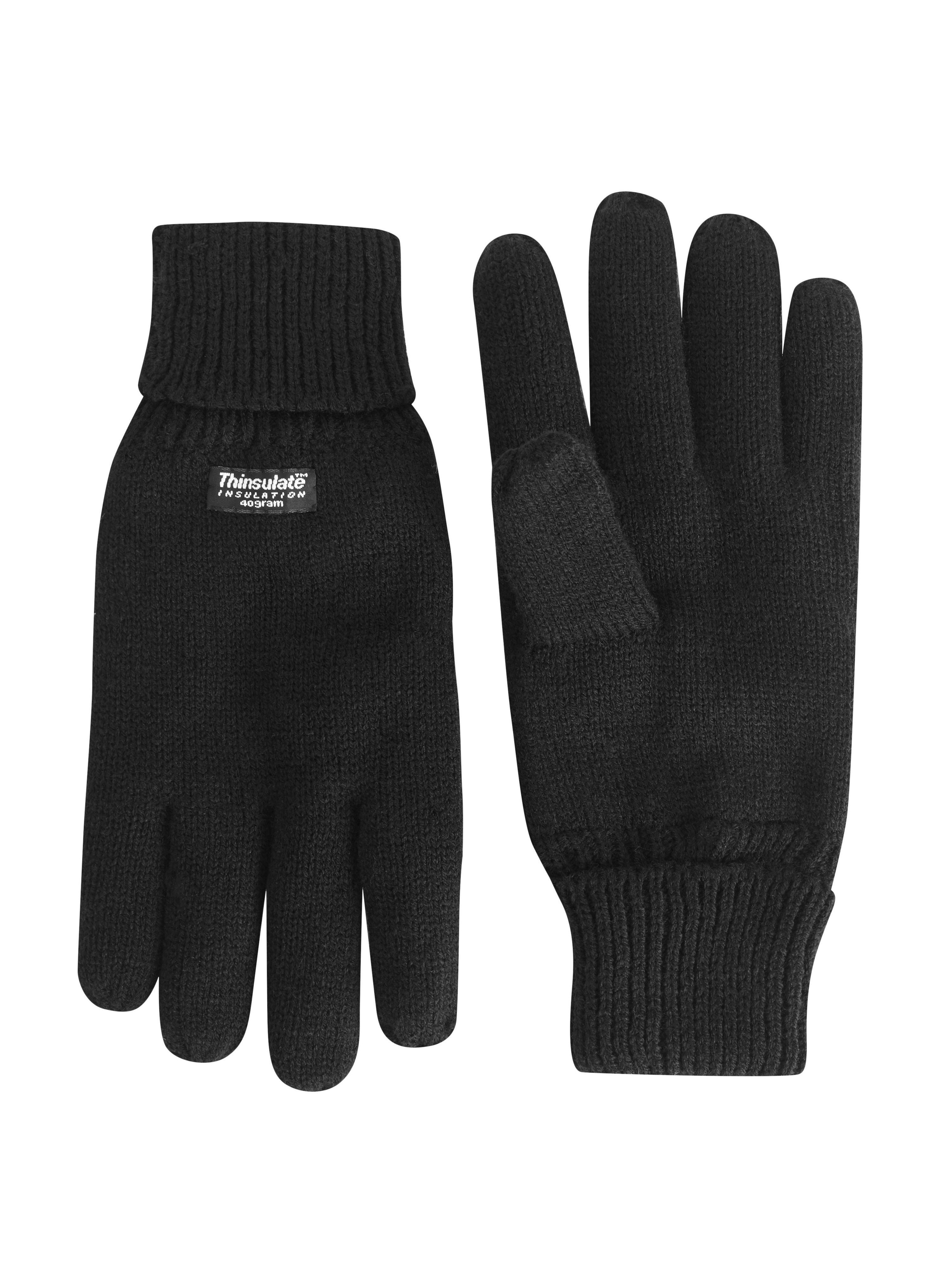Plain Gloves Knitting Pattern : Skopes Plain Knitted Gloves in Black for Men Lyst
