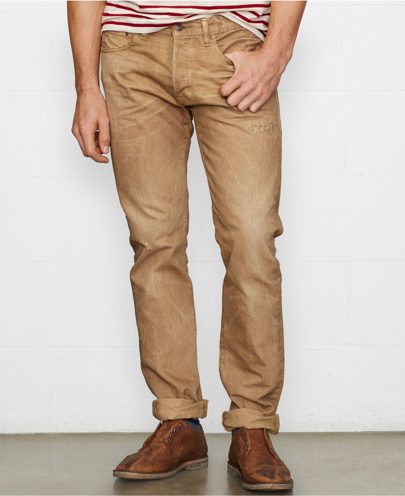 Tan Jeans For Men | Bbg Clothing