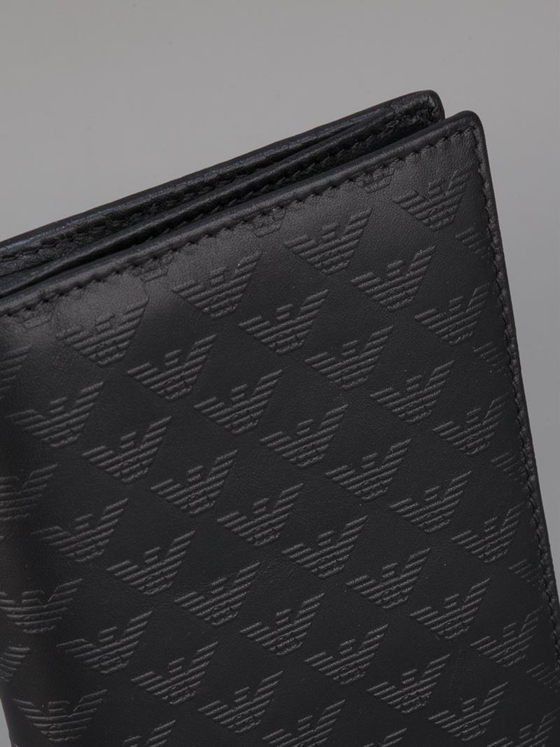 2270b6c5ff Emporio Armani Black Long Wallet for men