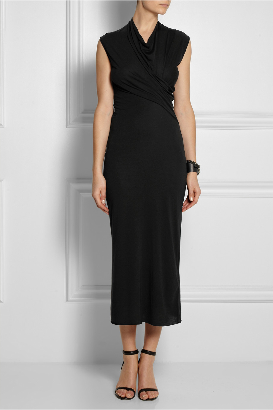 Lyst Rick Owens Lilies Wrap Effect Stretch Jersey Dress