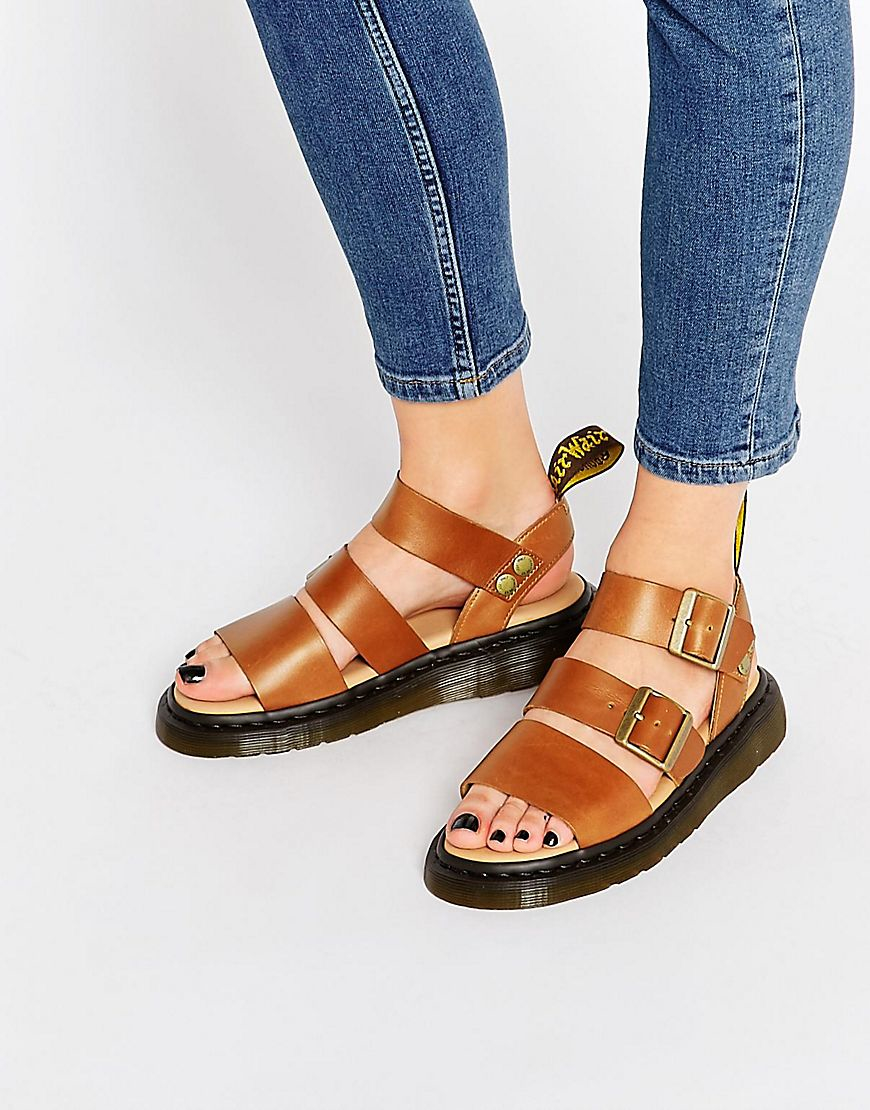 Gryphon Strap Sandals - Tan in Brown