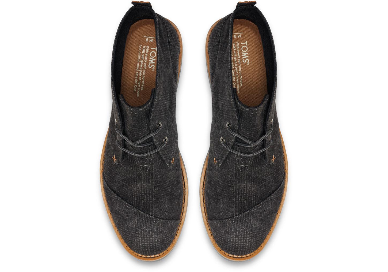 27c8517f5cd Lyst - TOMS Castlerock Grey Plaid Men s Mateo Chukka Boots in Gray ...