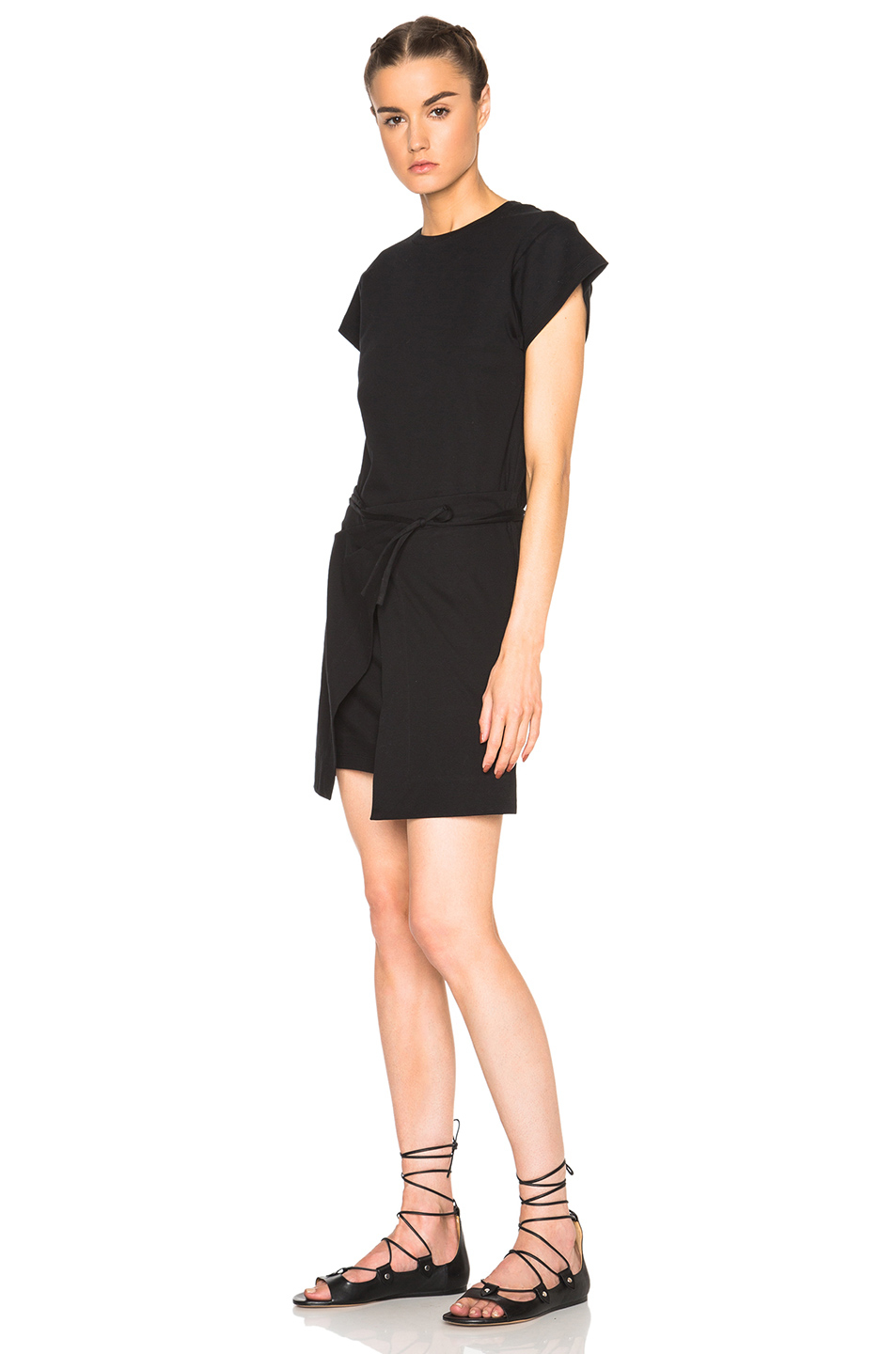 Isabel marant senga chic tee shirt dress in black lyst for Isabel marant t shirt sale