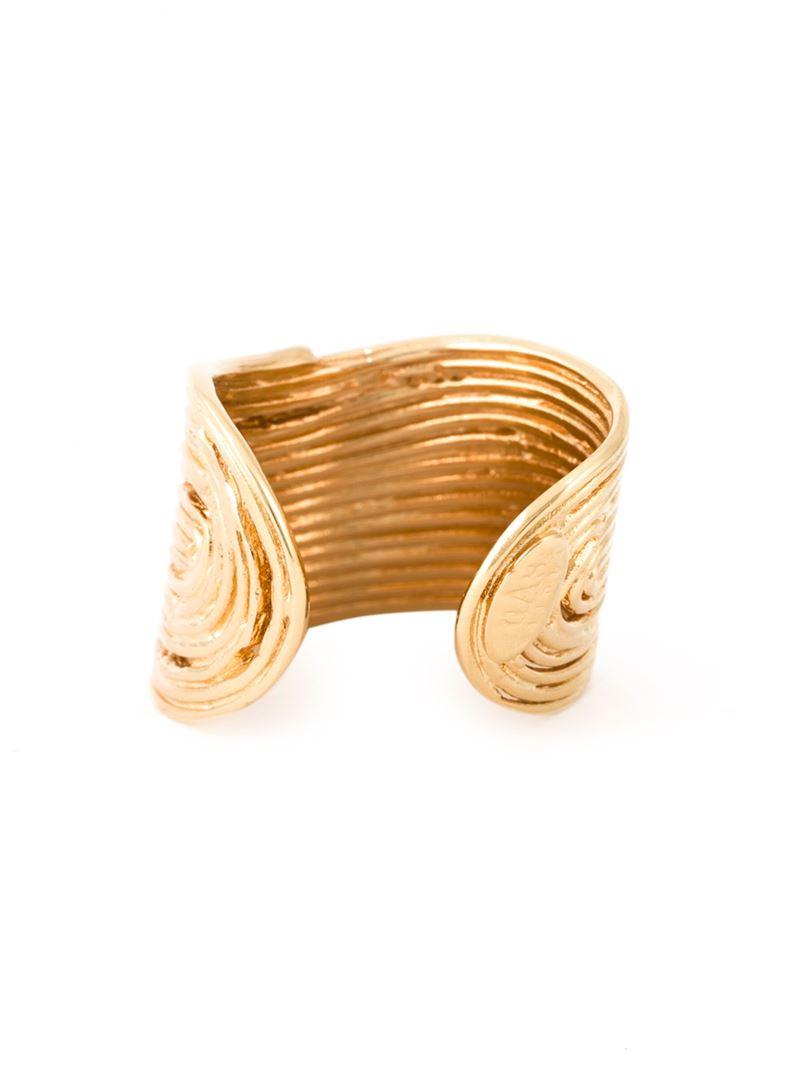 Wave ring - Metallic Gas Bijoux BYgIa9
