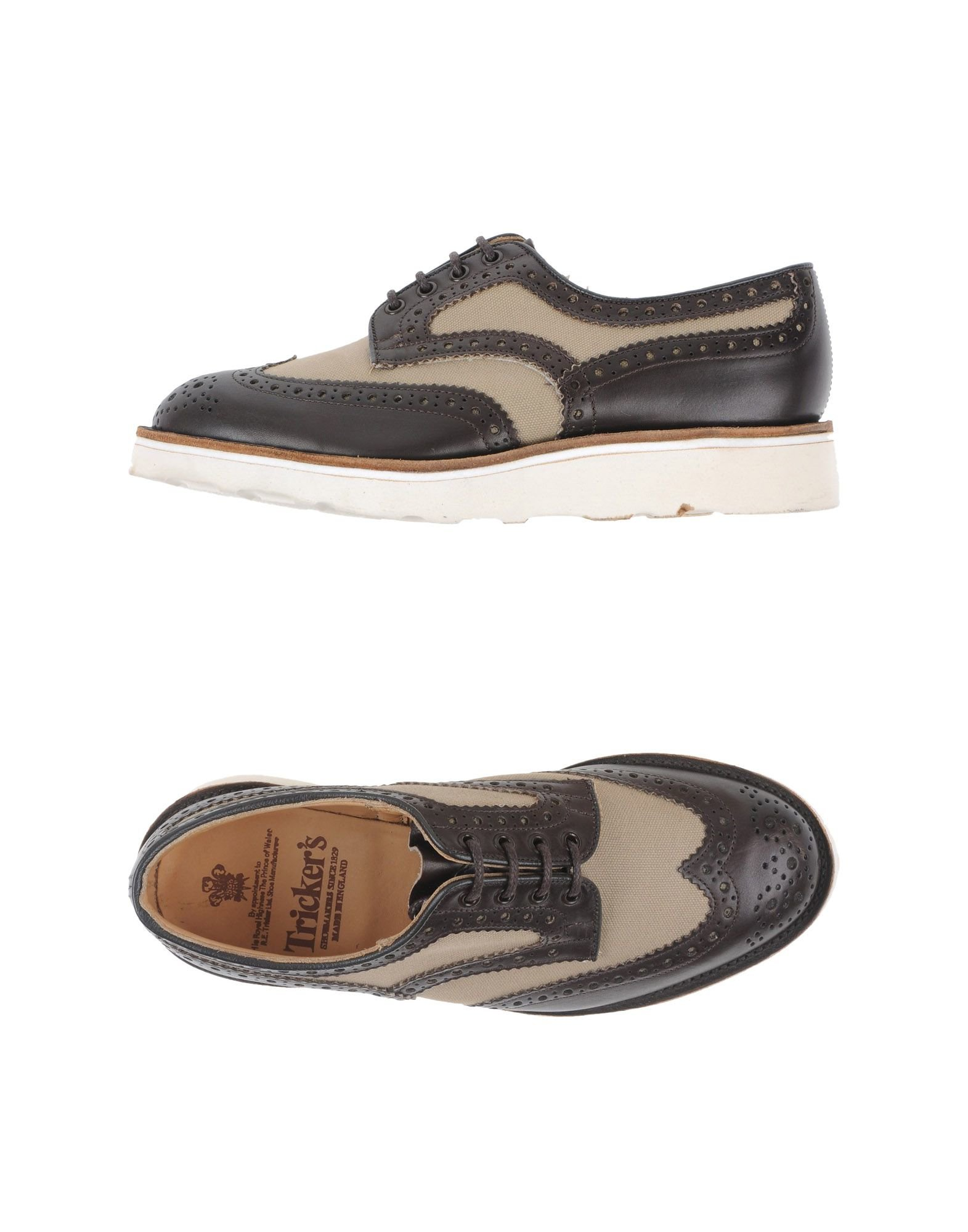 tricker s lace up shoes in brown for lyst