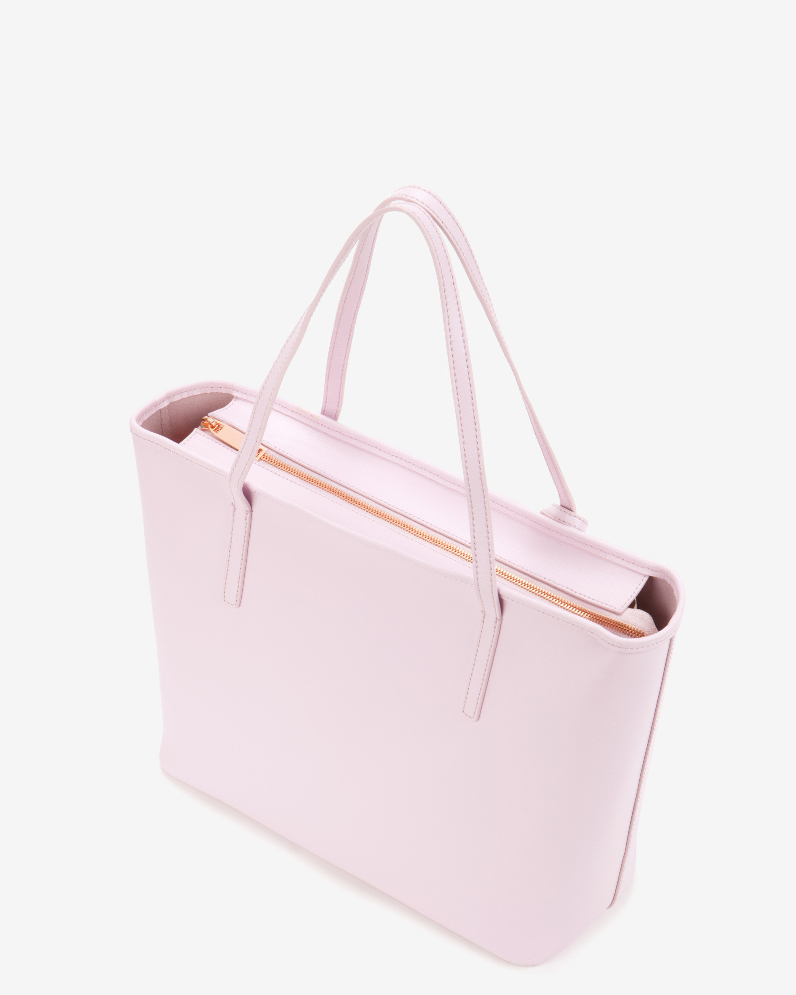 Ted Baker Bow Detail Leather Shopper Bag In Pale Pink
