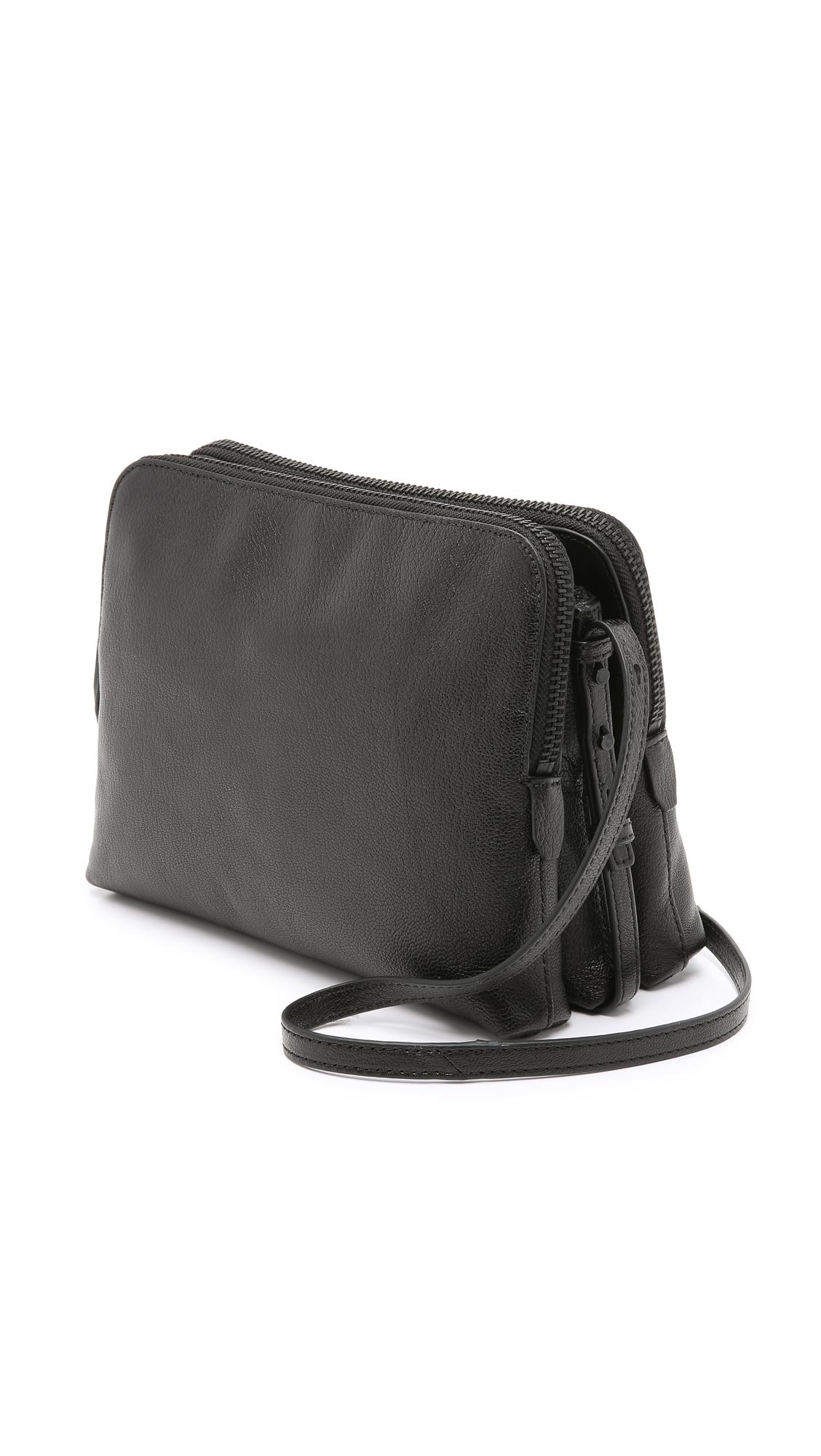Loeffler Randall Triple Zip Bag In Black Lyst