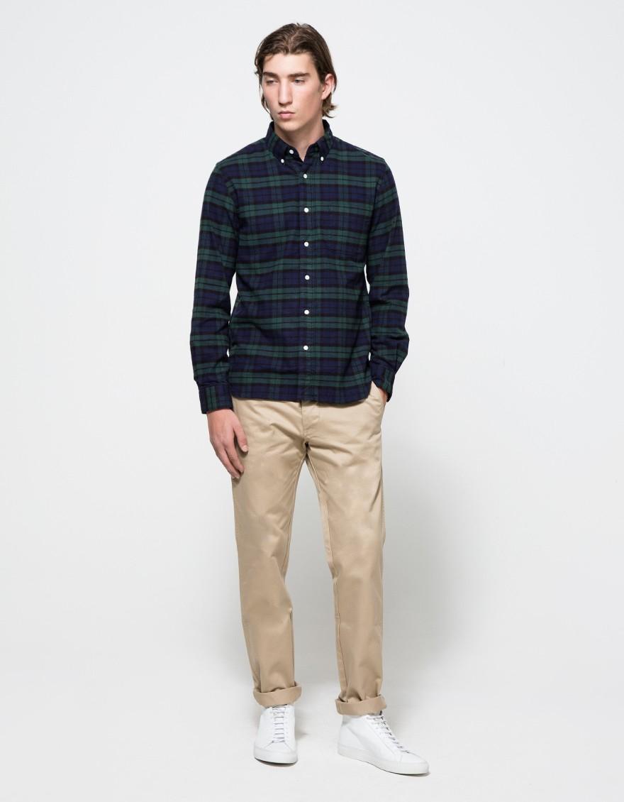 Beams Plus Black B+bd Flannel B/w for men