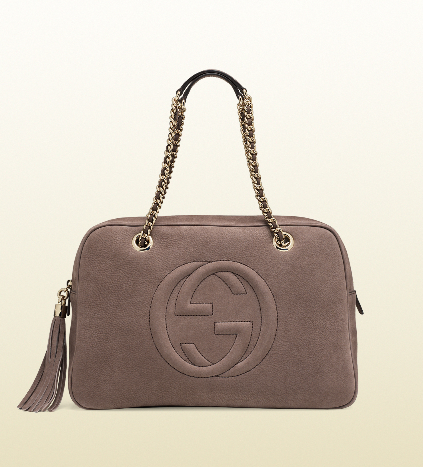 116a1831da6e Lyst - Gucci Soho Nubuck Leather Chain Shoulder Bag in Gray