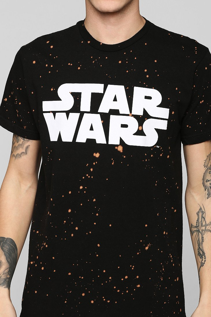urban outfitters star wars galaxy tee in black for men lyst. Black Bedroom Furniture Sets. Home Design Ideas