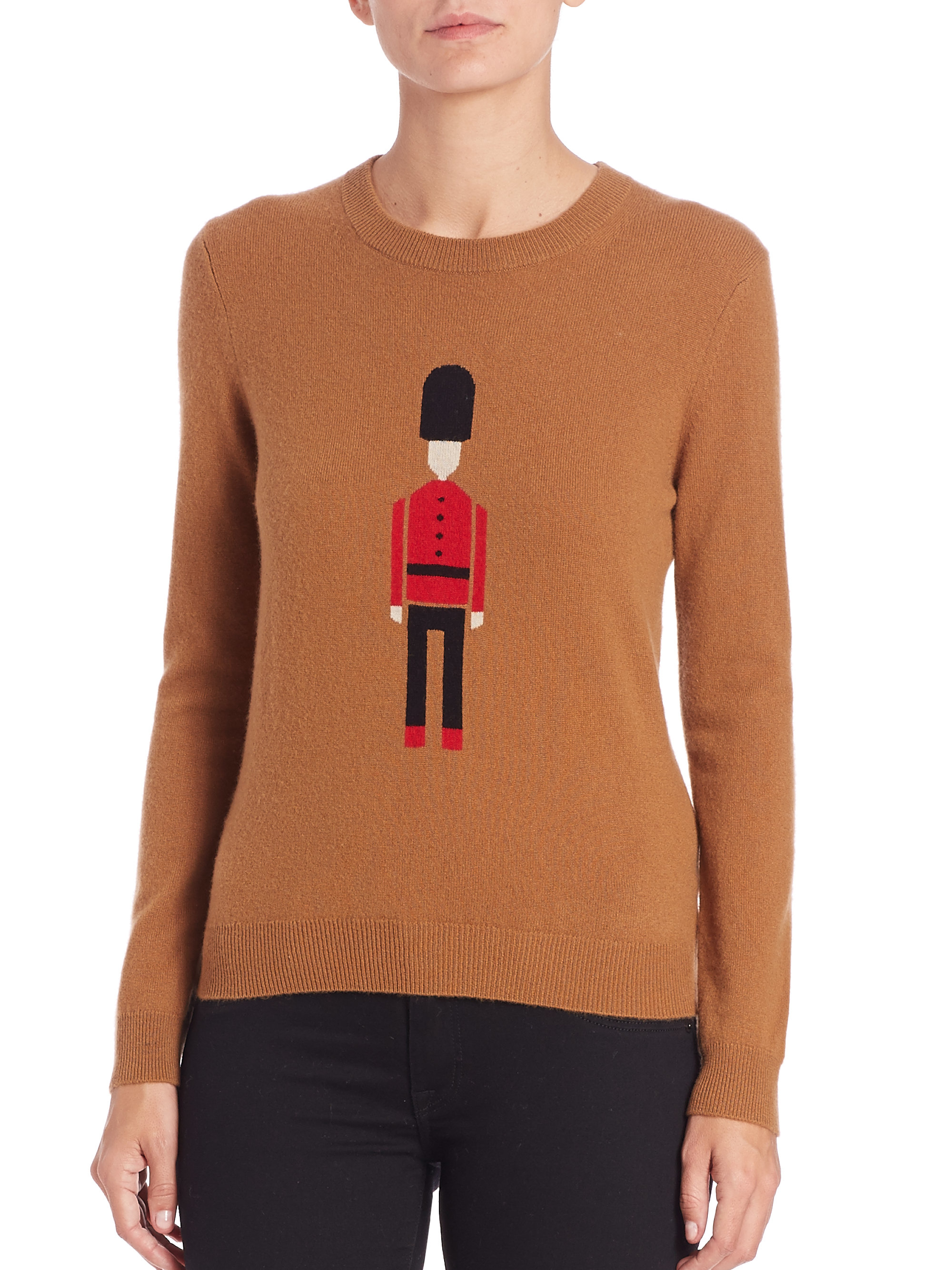 Burberry Toy Soldier Wool & Cashmere Sweater in Natural | Lyst