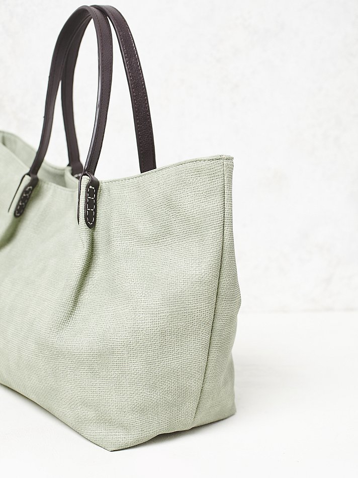 Free People Remi & Reid Womens Washed Vegan Tote in Mint (Green)