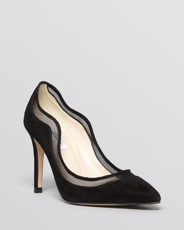 6037c8b385b L.K.Bennett Black Pointed Toe Evening Pumps - Faye High Heel