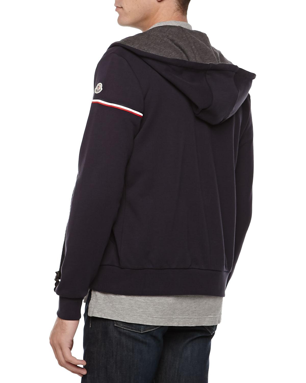 moncler blue hoodie