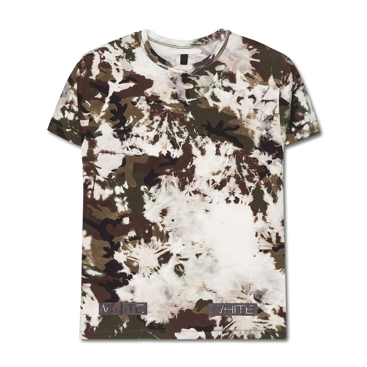 c5499a057d2ce Lyst - Off-White c o Virgil Abloh Long Fit Camou T-shirt for Men