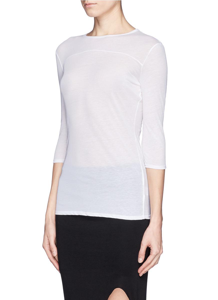 helmut lang schema jersey t shirt in white lyst. Black Bedroom Furniture Sets. Home Design Ideas