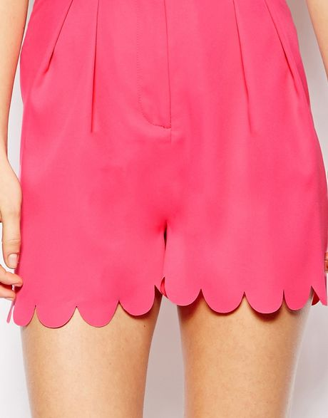 Scallop Hem Shorts Shorts With Scallop Hem in