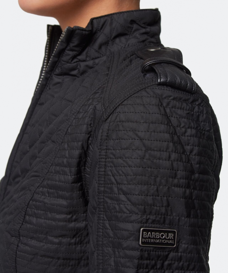 Barbour Synthetic Extractor Leather Trim Quilted Jacket In