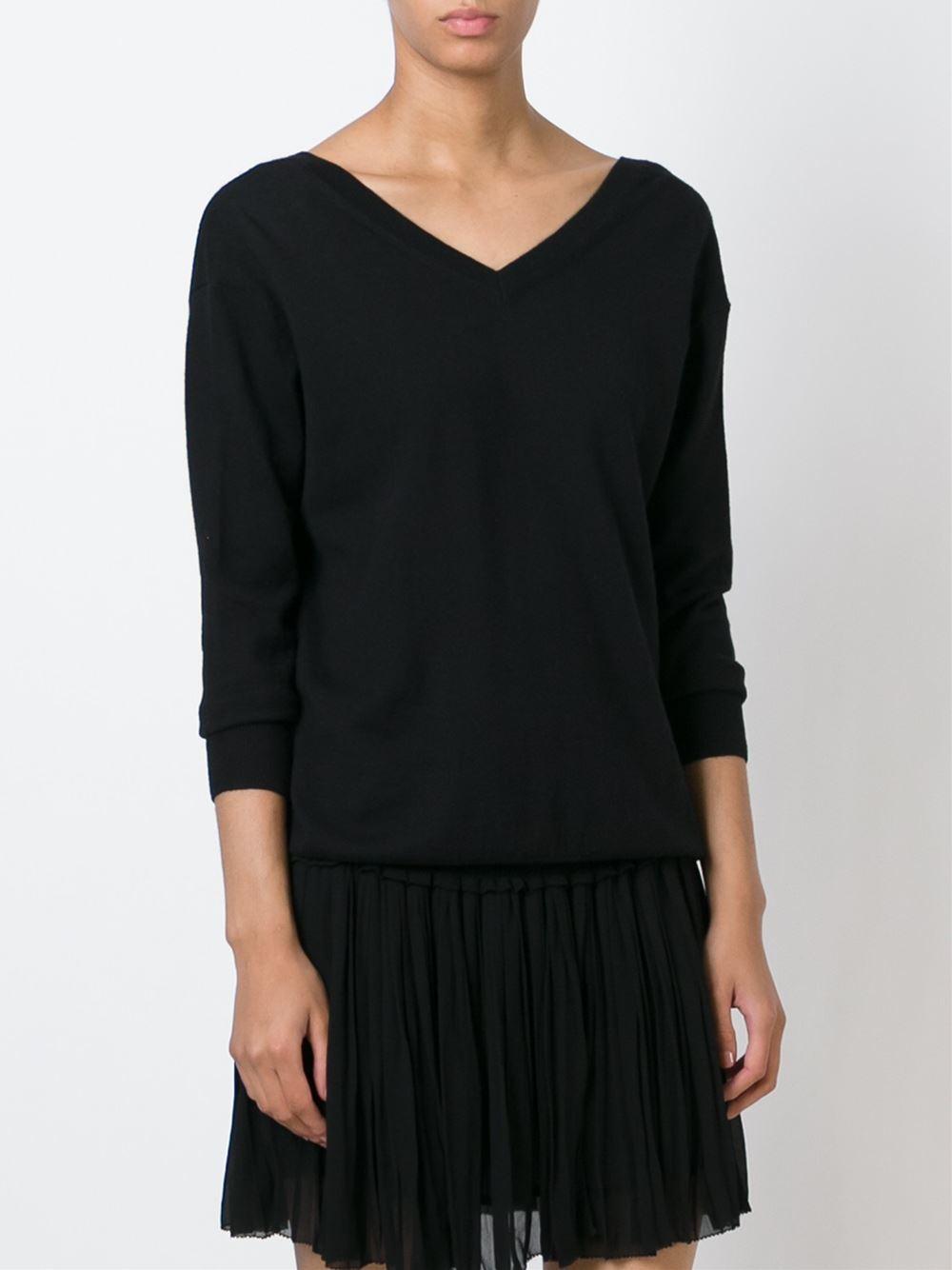 toile isabel marant 39 kinsey 39 sweater in black lyst. Black Bedroom Furniture Sets. Home Design Ideas