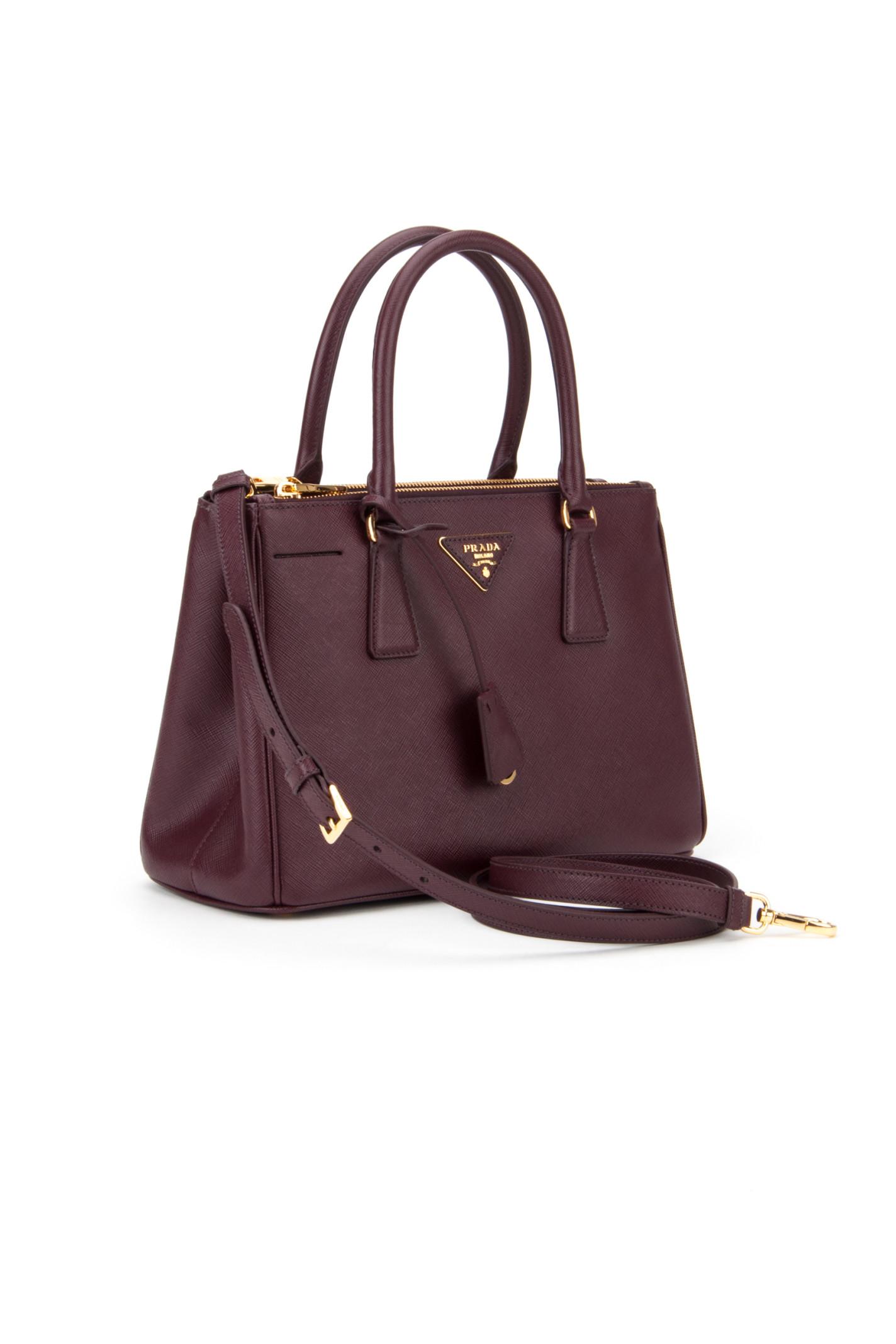 prada leather women bag