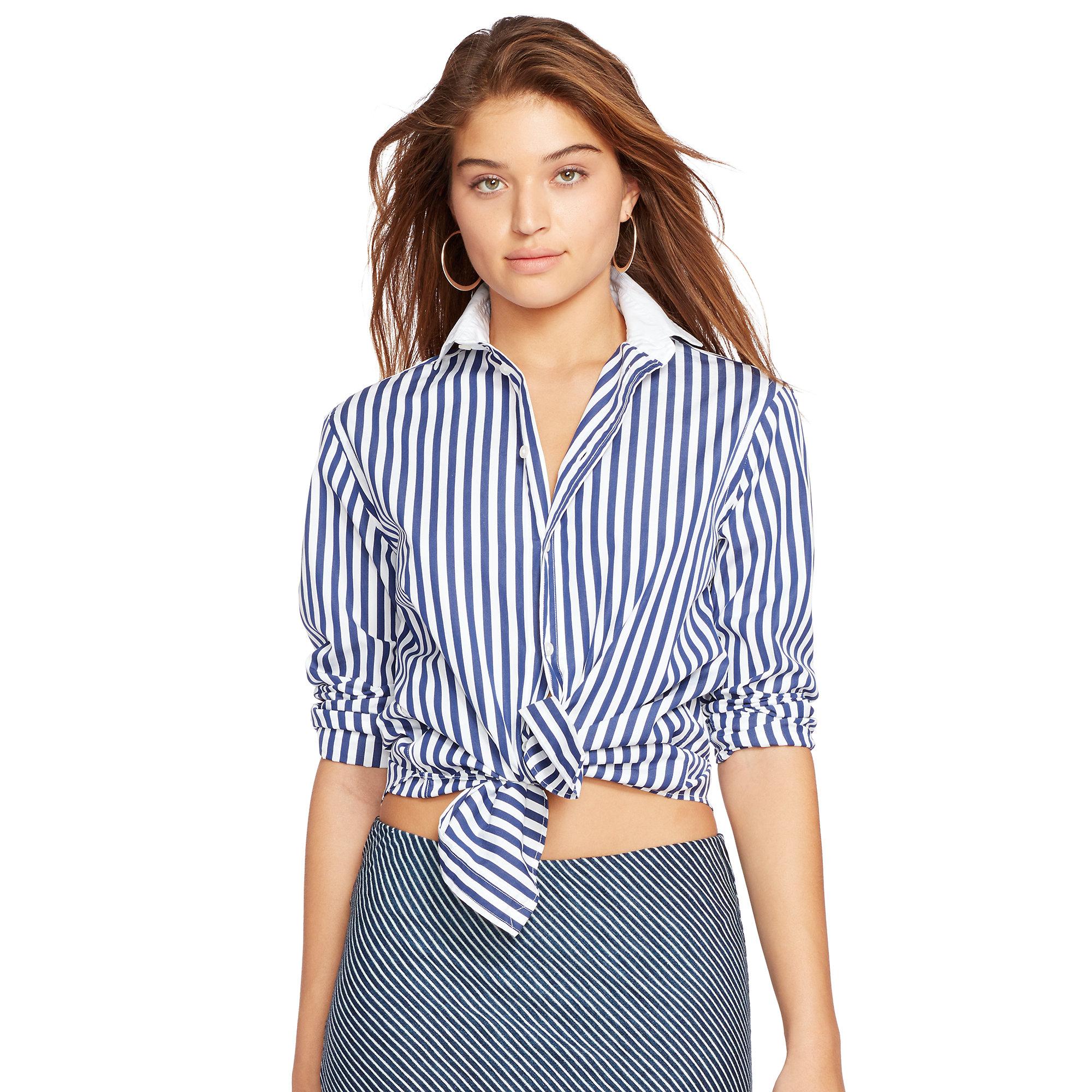 4ceef7c6e0ca84 Lyst - Polo Ralph Lauren Bengal-striped Cotton Shirt in Blue