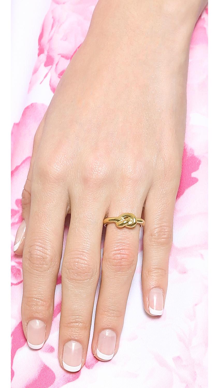 Michael Kors Smooth Metal Knot Ring Gold In Metallic Lyst