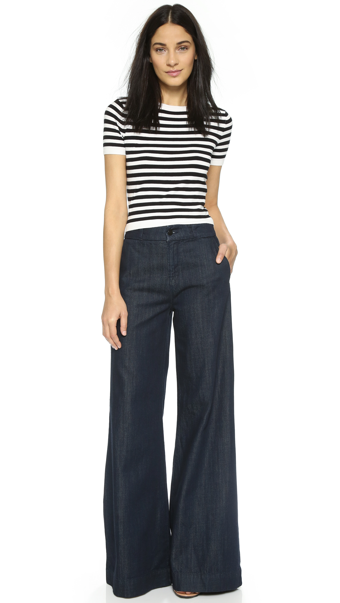 J Brand Melody High Rise Wide Leg Jeans in Blue - Lyst